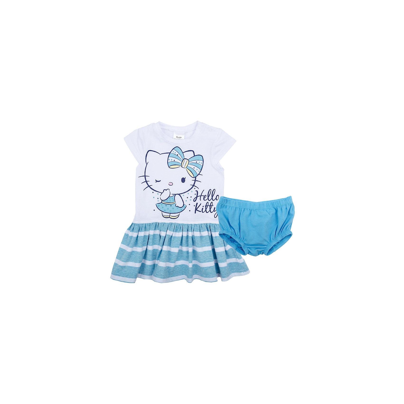 Комплект для девочки PlayTodayКомплекты<br>Характеристики товара:<br><br>• цвет: разноцветный<br>• состав: 95% хлопок, 5% эластан<br>• комплектация: платье, трусы<br>• дышащий материал<br>• рукава короткие<br>• кнопки на платье для удобства надевания<br>• пояс трусов - мягкая резинка<br>• комфортная посадка<br>• коллекция: весна-лето 2017<br>• страна бренда: Германия<br>• страна производства: Китай<br><br>Популярный бренд PlayToday выпустил новую коллекцию! Вещи из неё продолжают радовать покупателей удобством, стильным дизайном и продуманным кроем. Дети носят их с удовольствием. PlayToday - это линейка товаров, созданная специально для детей. Дизайнеры учитывают новые веяния моды и потребности детей. Порадуйте ребенка обновкой от проверенного производителя!<br>Эта модель обеспечит ребенку комфорт благодаря качественному материалу и удобному крою. Отличный вариант детской одежды - она не трет и давит, не ограничивает свободу движений! Выглядит стильно и аккуратно.<br><br>Комплект для девочки от известного бренда PlayToday можно купить в нашем интернет-магазине.<br><br>Ширина мм: 157<br>Глубина мм: 13<br>Высота мм: 119<br>Вес г: 200<br>Цвет: белый<br>Возраст от месяцев: 18<br>Возраст до месяцев: 24<br>Пол: Женский<br>Возраст: Детский<br>Размер: 92,74,80,86<br>SKU: 5408576