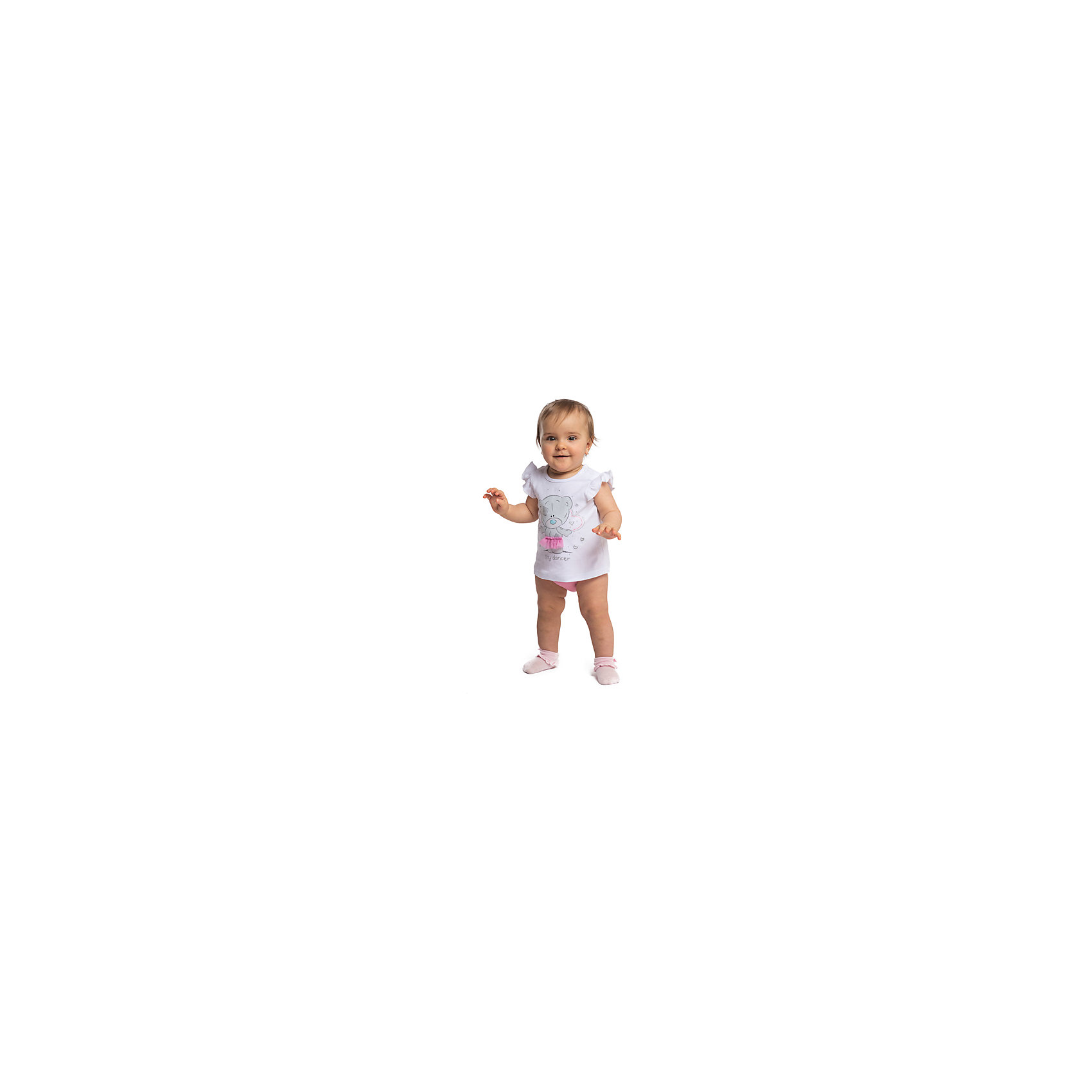 Комплект для девочки PlayTodayКомплекты<br>Комплект для девочки PlayToday<br>Комплект из майки и трусов выполнен из натурального материала, приятен к телу и не вызывает раздражений нежной детской кожи. Материал хорошо вентилируется. Майка на широких бретелях, дополнена легкими оборками в пройме, что создает эффект крылышек, декорировна нежной аппликацией. Широкая резинка на трусах не сдавливает живот ребенка. Для удобства одевания - снимания на горловине майка снабжена двумя застежками - кнопками.Преимущества: Натуральный материал не раздражает нежную детскую кожу, хорошо вентилируетсяАккуратные швы не вызывают неприятных ощущений<br>Состав:<br>100% хлопок<br><br>Ширина мм: 157<br>Глубина мм: 13<br>Высота мм: 119<br>Вес г: 200<br>Цвет: белый<br>Возраст от месяцев: 6<br>Возраст до месяцев: 9<br>Пол: Женский<br>Возраст: Детский<br>Размер: 74,56,62,68<br>SKU: 5408596