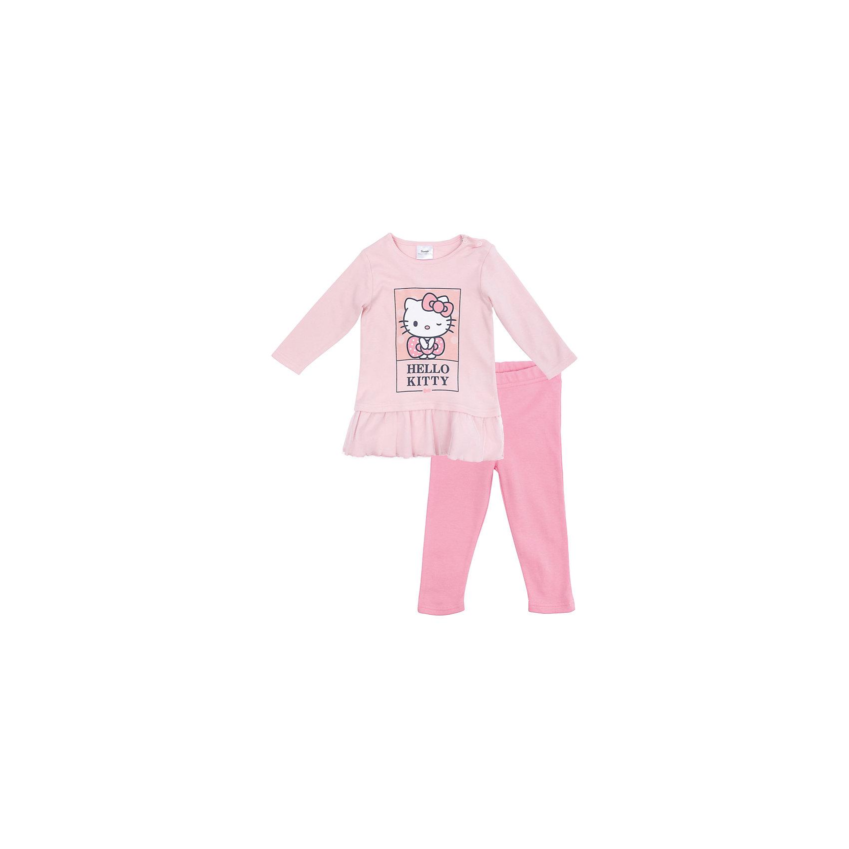 Комплект для девочки PlayTodayКомплекты<br>Характеристики товара:<br><br>• цвет: розовый<br>• состав: 100% хлопок<br>• комплектация: кофточка, брюки<br>• дышащий материал<br>• длинные рукава<br>• кнопки для удобства надевания<br>• пояс брюк - мягкая резинка<br>• комфортная посадка<br>• коллекция: весна-лето 2017<br>• страна бренда: Германия<br>• страна производства: Китай<br><br>Популярный бренд PlayToday выпустил новую коллекцию! Вещи из неё продолжают радовать покупателей удобством, стильным дизайном и продуманным кроем. Дети носят их с удовольствием. PlayToday - это линейка товаров, созданная специально для детей. Дизайнеры учитывают новые веяния моды и потребности детей. Порадуйте ребенка обновкой от проверенного производителя!<br>Эта модель обеспечит ребенку комфорт благодаря качественному материалу и удобному крою. Отличный вариант детской одежды - она не трет и давит, не ограничивает свободу движений! Выглядит стильно и аккуратно.<br><br>Комплект для девочки от известного бренда PlayToday можно купить в нашем интернет-магазине.<br><br>Ширина мм: 157<br>Глубина мм: 13<br>Высота мм: 119<br>Вес г: 200<br>Цвет: белый<br>Возраст от месяцев: 6<br>Возраст до месяцев: 9<br>Пол: Женский<br>Возраст: Детский<br>Размер: 74,56,62,68<br>SKU: 5408606