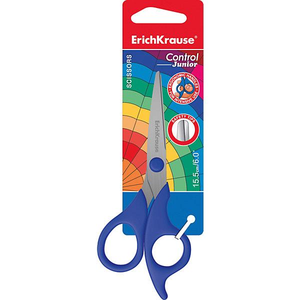 Ножницы Control Junior 15.5 смШкольные аксессуары<br>Характеристики ножниц Standard Junior 15.5 см:<br><br>• возраст: от 5 лет<br>• пол: для мальчиков и девочек<br>• цвет: синий<br>• тип: ножницы<br>• материал: нержавеющая сталь, пластик<br>• размеры: 15,5 см<br>• размер упаковки 3 x 20 x 8 см<br>• вес в упаковке, 102 г<br>• бренд: Erich Krause<br>• страна: Китай<br><br>Ножницы из высококачественной нержавеющей стали с безопасными закругленными концами лезвий. Эргономичные ручки с дополнительным упором под пальцы.<br><br>Ножницы Standard Junior 15,5 см торговой марки Erich Krause можно купить в нашем интернет-магазине.<br><br>Ширина мм: 35<br>Глубина мм: 195<br>Высота мм: 10<br>Вес г: 46<br>Возраст от месяцев: 60<br>Возраст до месяцев: 216<br>Пол: Унисекс<br>Возраст: Детский<br>SKU: 5409192