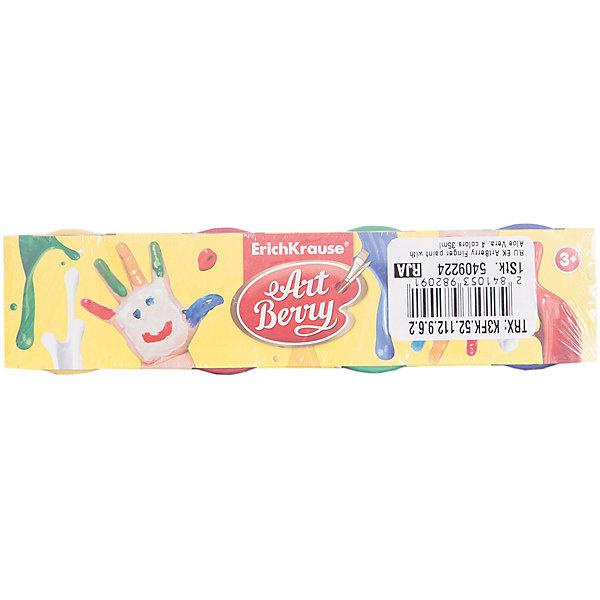 Пальчиковые краски ArtBerry с Алоэ Вера, 4 цвета по 35млПальчиковые краски<br>Характеристики товара:<br><br>• материал упаковки: картон <br>• в комплект входит: краски<br>• количество цветов: 4<br>• треугольная форма<br>• объём каждой баночки: 35 мл<br>• возраст: от 3 лет<br>• вес: 241 г<br>• габариты упаковки: 22х4х4,5 см<br>• страна производитель: Китай<br><br>Пальчиковые краски – альтернативный вариант классическому рисованию кистью по бумаге. Рисование пальчиками подходит с самых малых лет. Краски не токсичны, не вызывают аллергии, легко отмываются от любых поверхностей.<br><br>Пальчиковые краски ArtBerry с Алоэ Вера, 4 цвета по 35мл можно купить в нашем интернет-магазине.<br><br>Ширина мм: 220<br>Глубина мм: 40<br>Высота мм: 45<br>Вес г: 241<br>Возраст от месяцев: 36<br>Возраст до месяцев: 2147483647<br>Пол: Унисекс<br>Возраст: Детский<br>SKU: 5409224