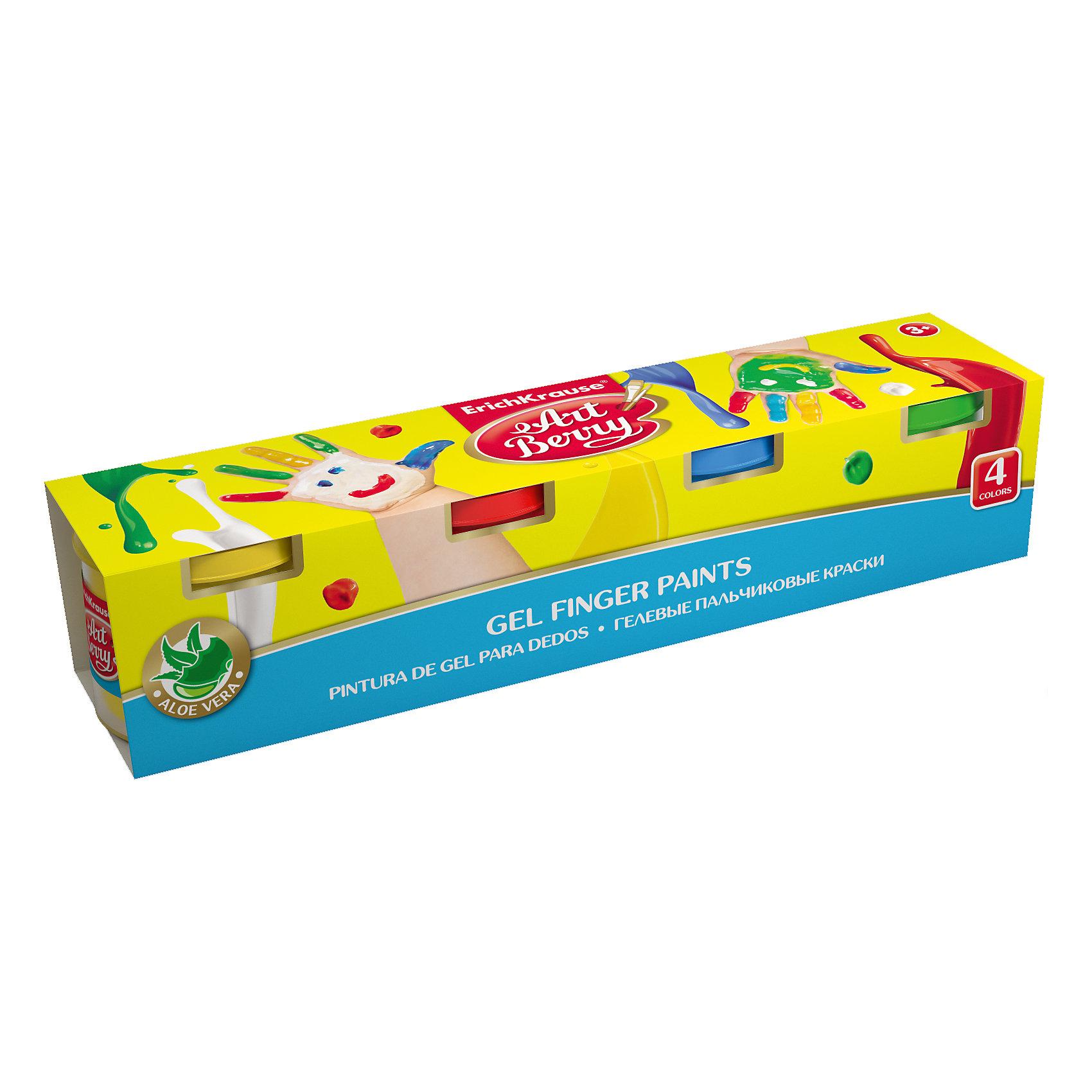 Пальчиковые краски ArtBerry с Алоэ Вера, 4 цвета по 100млРисование<br>4 баночки объемом 100 мл: желтый, красный, синий, зеленый. упаковка: картонная коробка.<br><br>Ширина мм: 260<br>Глубина мм: 55<br>Высота мм: 57<br>Вес г: 618<br>Возраст от месяцев: 60<br>Возраст до месяцев: 216<br>Пол: Унисекс<br>Возраст: Детский<br>SKU: 5409226