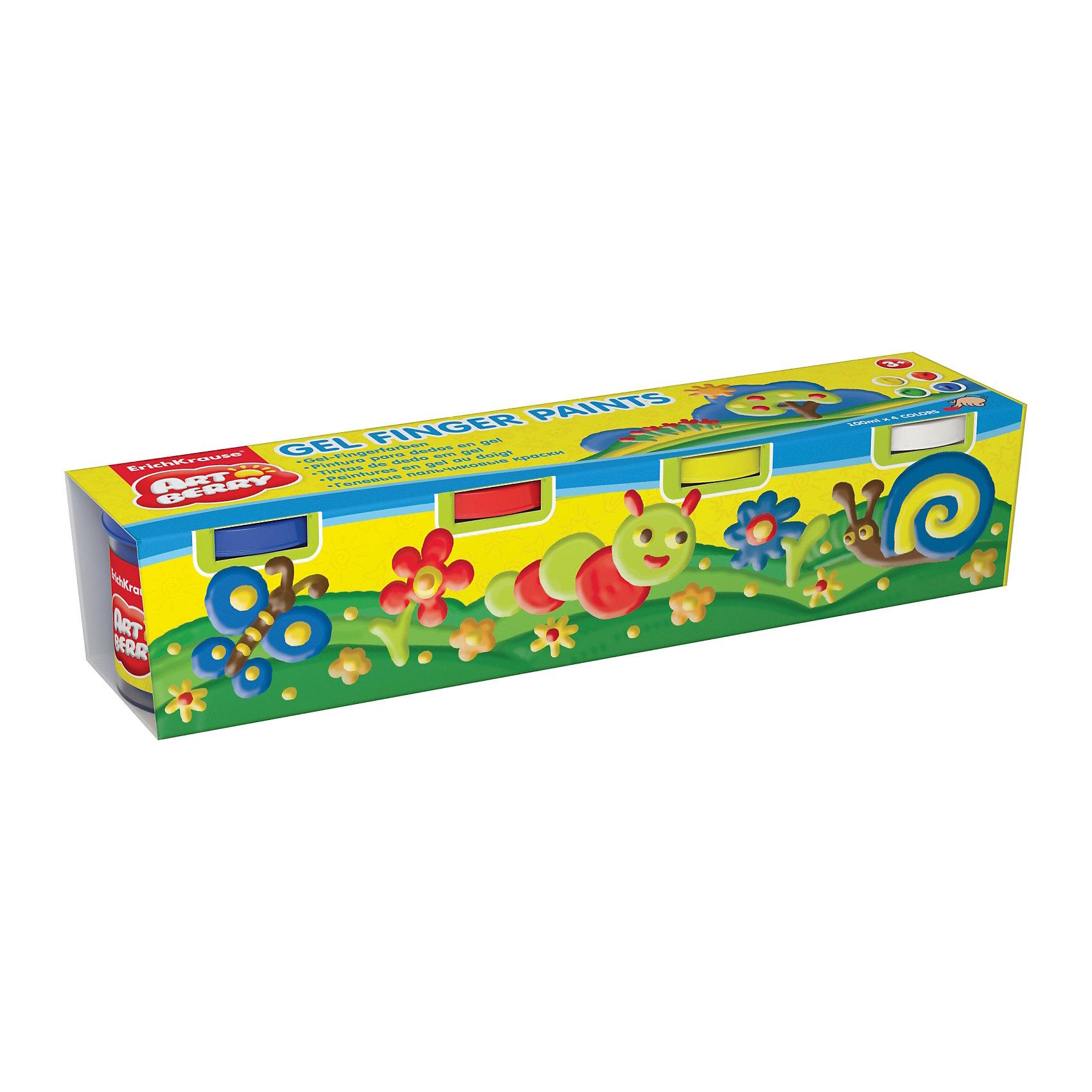Пальчиковые краски ArtBerry, 4 цвета по 100млПальчиковые краски<br>Характеристики товара:<br><br>• материал упаковки: картон <br>• в комплект входит: краски<br>• количество цветов: 4<br>• треугольная форма<br>• объём каждой баночки: 100 мл<br>• возраст: от 3 лет<br>• вес: 618 г<br>• габариты упаковки: 26х5,5х5,7 см<br>• страна производитель: Китай<br><br>Пальчиковые краски – альтернативный вариант классическому рисованию кистью по бумаге. Рисование пальчиками подходит с самых малых лет. Краски не токсичны, не вызывают аллергии, легко отмываются от любых поверхностей.<br><br>Пальчиковые краски ArtBerry, 4 цвета по 100 мл можно купить в нашем интернет-магазине.<br><br>Ширина мм: 260<br>Глубина мм: 55<br>Высота мм: 57<br>Вес г: 618<br>Возраст от месяцев: 36<br>Возраст до месяцев: 2147483647<br>Пол: Унисекс<br>Возраст: Детский<br>SKU: 5409228