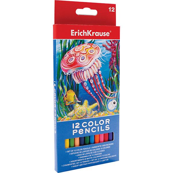 Цветные карандаши шестигранные ArtBerry, 12 цветовПисьменные принадлежности<br>Характеристики цветных шестигранных карандашей ArtBerry:<br><br>• возраст: от 5 лет<br>• пол: для мальчиков и девочек<br>• комплект: 12 карандашей <br>• материал: древесина, грифель, краситель, лак на водной основе<br>• размер упаковки: 8.8х8х20.4 см.<br>• упаковка: картонная коробка.<br>• корпус: шестигранный<br>• толщина грифеля: 0.3 см.<br>• бренд: Erich Krause<br>• страна обладатель бренда: Россия.<br><br>Набор состоит из двенадцати карандашей, выполненных из высококачественной древесины, имеющих достаточно большой запас прочности. В коробе размещен базовый набор цветов, активно используемых в школе на занятиях и для повседневного рисования дома. <br><br>Оттенки достаточно яркие, линии четкие и в зависимости от силы нажима можно варьировать насыщенность цвета. Грифель мягко скользит по поверхности бумаги и, вместе с тем, он достаточно крепкий и не ломается при сильном нажиме.<br><br>Цветные карандаши шестигранные ArtBerry торговой марки Erich Krause  можно купить в нашем интернет-магазине.<br><br>Ширина мм: 88<br>Глубина мм: 204<br>Высота мм: 8<br>Вес г: 78<br>Возраст от месяцев: 60<br>Возраст до месяцев: 216<br>Пол: Унисекс<br>Возраст: Детский<br>SKU: 5409230