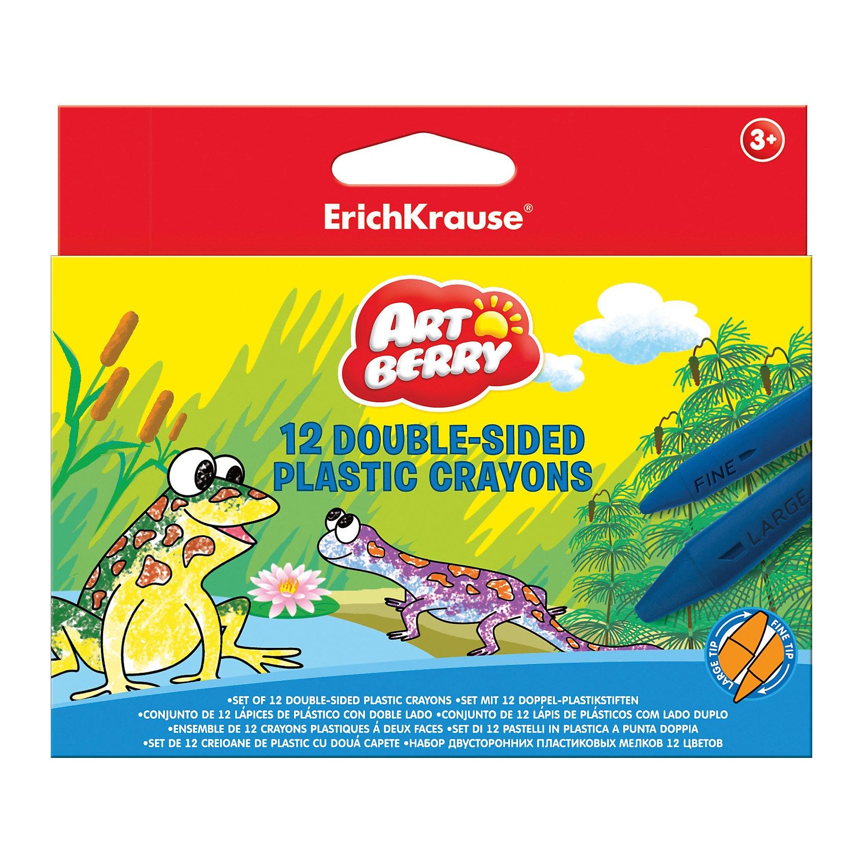 Двухсторонние пластиковые мелки ArtBerry jumbo, 12 цветовМасляные и восковые мелки<br>Характеристики товара:<br><br>• материал упаковки: пластик <br>• длина: 9 см<br>• количество цветов: 12<br>• треугольная форма<br>• возраст: от 3 лет<br>• вес: 107 г<br>• габариты упаковки: 15х12х1,5 см<br>• страна производитель: Китай<br><br>Мелки в пластиковой упаковке – альтернатива классическим мелкам. К преимуществам относится полное отсутствие возможности испачкать ручки. Данная модель двухсторонняя: в одном стержне находятся одновременно 2 цвета.<br><br>Двухсторонние пластиковые мелки ArtBerry jumbo, 12 цветов, можно купить в нашем интернет-магазине.<br><br>Ширина мм: 148<br>Глубина мм: 125<br>Высота мм: 15<br>Вес г: 108<br>Возраст от месяцев: 36<br>Возраст до месяцев: 2147483647<br>Пол: Унисекс<br>Возраст: Детский<br>SKU: 5409246