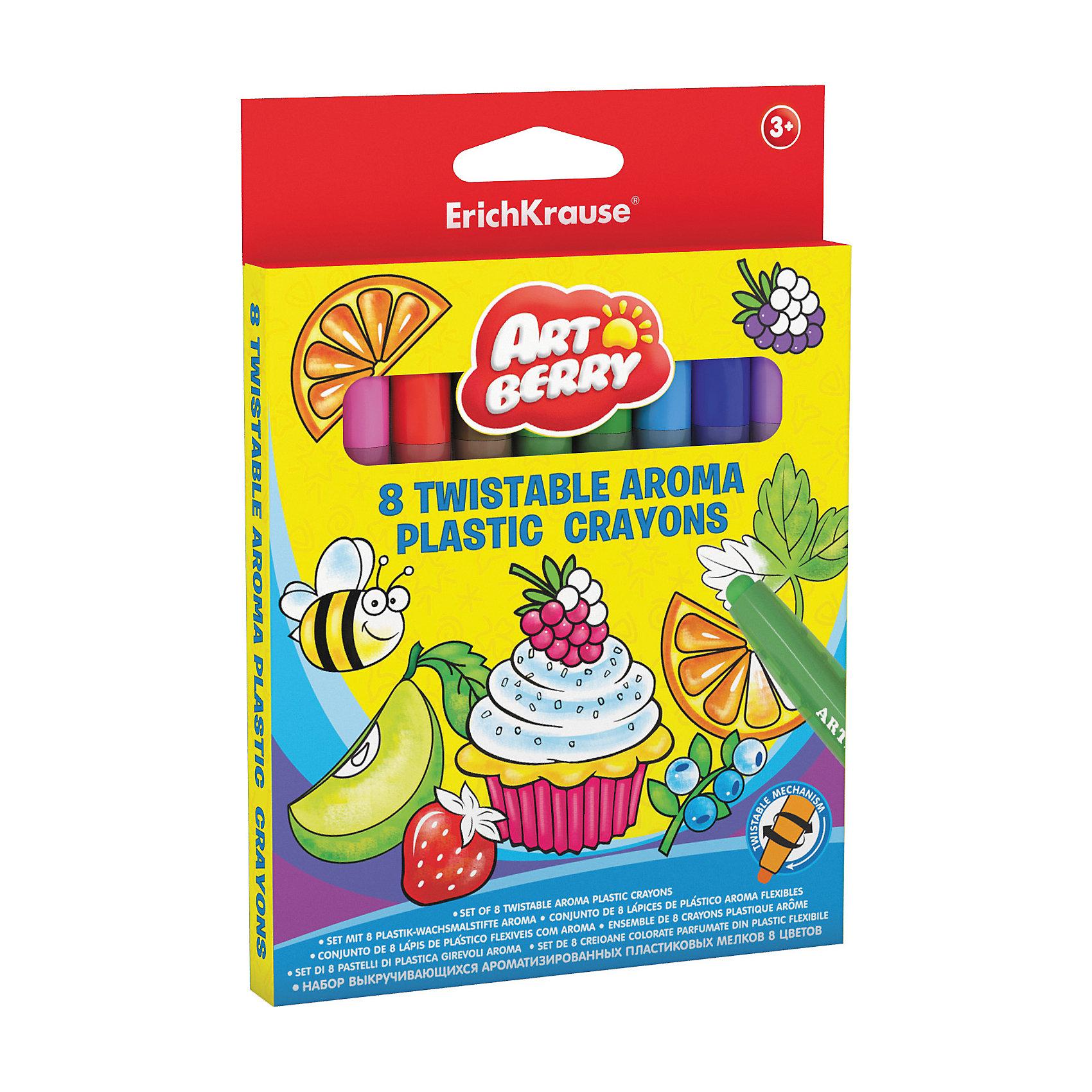 Пластиковые мелки ArtBerry twist Aroma, 12 цветовМасляные и восковые мелки<br>Характеристики товара:<br><br>• материал упаковки: пластик <br>• пластиковый корпус с выкручивающимся механизмом<br>• длина: 12 см<br>• ароматизированные<br>• возраст: от 3 лет<br>• вес: 104 г<br>• габариты упаковки: 13,8х16х1,5 см<br>• страна производитель: Китай<br><br>Ароматизированные мелки – улучшенная версия обычных мелков в пластиковой упаковке. Основная часть мелка выдвигается по мере израсходования рабочей части. Удобная треугольная форма карандаша уверенно сидит в маленькой детской ручке.<br><br>Пластиковые мелки ArtBerry twist Aroma, 12 цветов можно купить в нашем интернет-магазине.<br><br>Ширина мм: 138<br>Глубина мм: 160<br>Высота мм: 15<br>Вес г: 104<br>Возраст от месяцев: 36<br>Возраст до месяцев: 2147483647<br>Пол: Унисекс<br>Возраст: Детский<br>SKU: 5409247