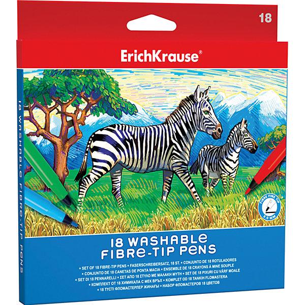 Фломастеры ArtBerry easy washable, 18 цветовФломастеры<br>Характеристики товара:<br><br>• материал упаковки: пластик <br>• наконечник: fine-tip 2 mm<br>• количество цветов: 18<br>• возраст: от 5 лет<br>• вес: 130 г<br>• страна производитель: Малайзия<br><br>Благодаря красивой и тонкой линии фломастеры – один из любимых материалов для творчества. К сожалению, не все дети аккуратно рисуют. Но теперь проблема с удалением сложных пятен от фломастеров решена: новые фломастеры легко смываются водой с любой одежды!<br><br>Фломастеры ArtBerry easy washable, 18 цветов, можно купить в нашем интернет-магазине.<br><br>Ширина мм: 185<br>Глубина мм: 12<br>Высота мм: 190<br>Вес г: 130<br>Возраст от месяцев: 60<br>Возраст до месяцев: 2147483647<br>Пол: Унисекс<br>Возраст: Детский<br>SKU: 5409254