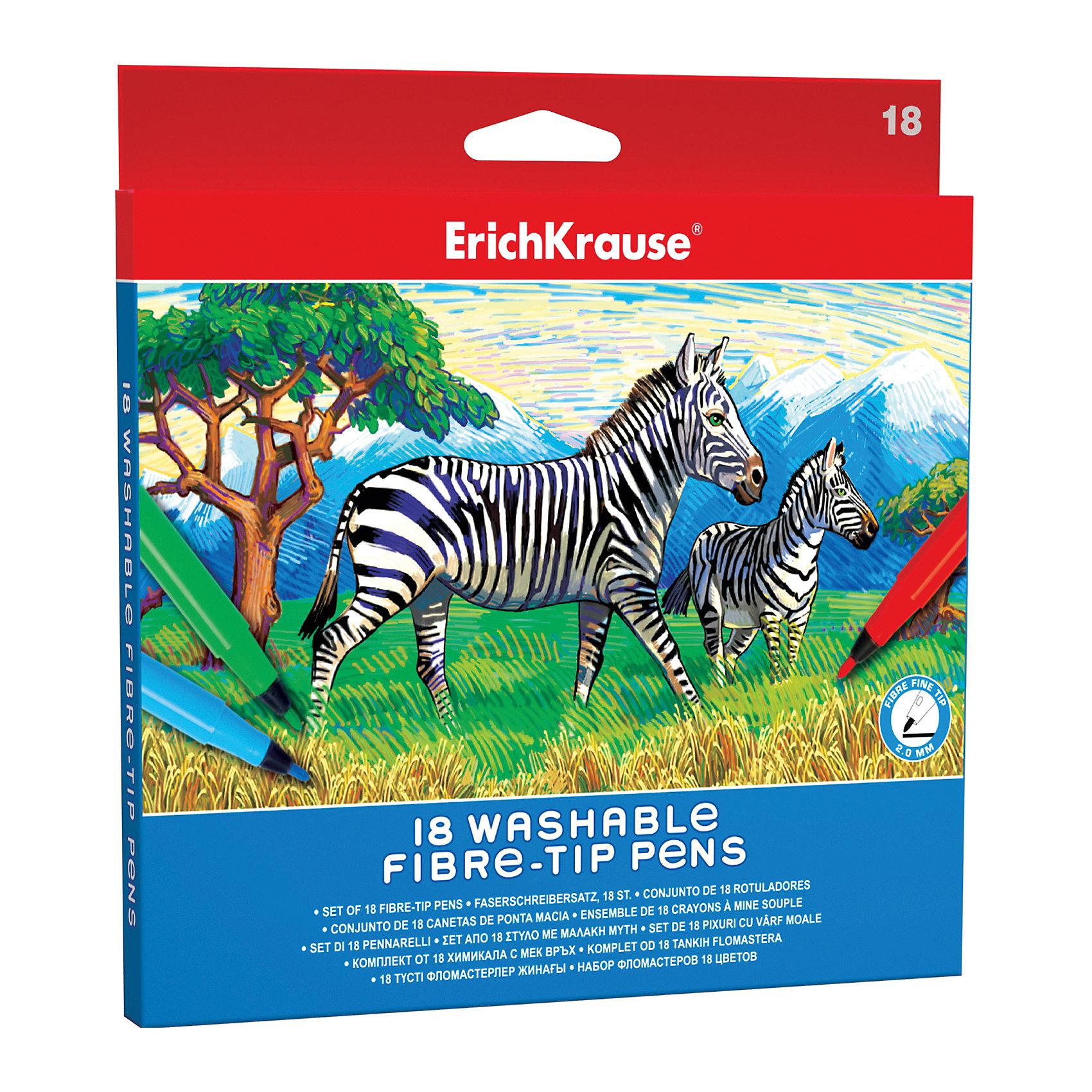 Фломастеры ArtBerry easy washable, 18 цветовПисьменные принадлежности<br>Характеристики товара:<br><br>• материал упаковки: пластик <br>• наконечник: fine-tip 2 mm<br>• количество цветов: 18<br>• возраст: от 5 лет<br>• вес: 130 г<br>• страна производитель: Малайзия<br><br>Благодаря красивой и тонкой линии фломастеры – один из любимых материалов для творчества. К сожалению, не все дети аккуратно рисуют. Но теперь проблема с удалением сложных пятен от фломастеров решена: новые фломастеры легко смываются водой с любой одежды!<br><br>Фломастеры ArtBerry easy washable, 18 цветов, можно купить в нашем интернет-магазине.<br><br>Ширина мм: 185<br>Глубина мм: 12<br>Высота мм: 190<br>Вес г: 130<br>Возраст от месяцев: 60<br>Возраст до месяцев: 2147483647<br>Пол: Унисекс<br>Возраст: Детский<br>SKU: 5409254