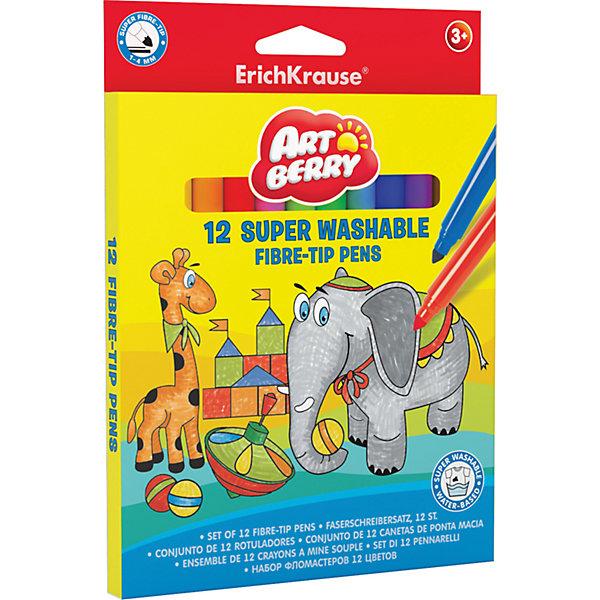 Фломастеры ArtBerry supertip easy washable, 12 цветовФломастеры<br>Характеристики товара:<br><br>• материал упаковки: пластик <br>• количество цветов: 12<br>• возраст: от 3 лет<br>• вес: 120 г<br>• страна производитель: Малайзия<br><br>Фломастеры – красивый и яркий материал для творчества. К сожалению, не все дети аккуратно рисуют. Но теперь проблема с удалением сложных пятен от фломастеров решена: новые фломастеры легко смываются водой с любой одежды!<br><br>Товар для творчества «Фломастеры ArtBerry supertip easy washable, 12 цветов можно купить в нашем интернет-магазине.<br>Ширина мм: 145; Глубина мм: 12; Высота мм: 200; Вес г: 120; Возраст от месяцев: 36; Возраст до месяцев: 2147483647; Пол: Унисекс; Возраст: Детский; SKU: 5409257;