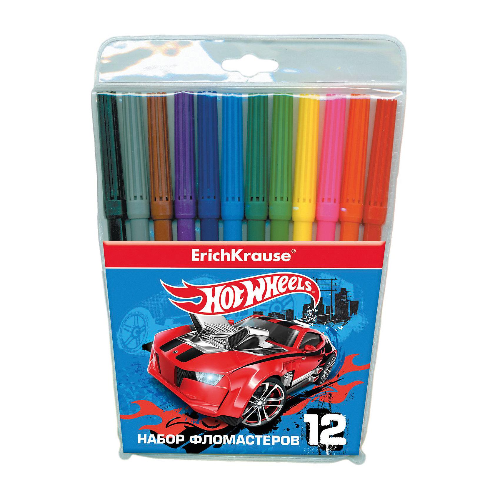 Фломастеры Hot Wheels Super Car, 12 цветовФломастеры<br>Характеристики товара:<br><br>• материал упаковки: пластик <br>• количество цветов: 12<br>• вентилируемый колпачок<br>• возраст: от 5 лет<br>• габариты упаковки: 13,5х18х1,2 см<br>• вес: 83 г<br>• страна производитель: Россия<br><br>Здоровое развитие ребенка невозможно без включения творческой программы в его дошкольное обучение. Рисование фломастерами – отличная возможность развить в малыше фантазию и нестандартное мышление. У фломастеров вентилируемый колпачок в целях безопасности.<br><br>Фломастеры Hot Wheels Super Car, 12 цветов, можно купить в нашем интернет-магазине.<br><br>Ширина мм: 135<br>Глубина мм: 180<br>Высота мм: 12<br>Вес г: 83<br>Возраст от месяцев: 36<br>Возраст до месяцев: 2147483647<br>Пол: Мужской<br>Возраст: Детский<br>SKU: 5409264