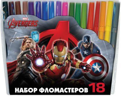 Erich Krause Фломастеры Мстители-2 , 18 цветов