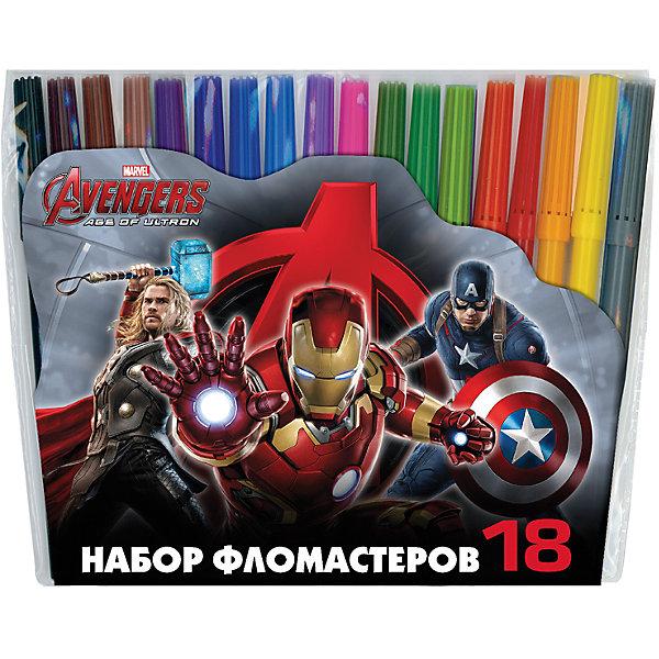 Фломастеры Мстители-2, 18 цветовФломастеры<br>Характеристики товара:<br><br>• материал упаковки: пластик <br>• количество цветов: 18<br>• вентилируемый колпачок<br>• возраст: от 3 лет<br>• габариты упаковки: 17,9х17,2х1,2 см<br>• вес: 123 г<br>• страна производитель: Россия<br><br>Здоровое развитие ребенка невозможно без включения творческой программы в его дошкольное обучение. Рисование фломастерами – отличная возможность развить в малыше фантазию и нестандартное мышление. У фломастеров вентилируемый колпачок в целях безопасности.<br><br>Фломастеры Мстители-2, 18 цветов, можно купить в нашем интернет-магазине.<br><br>Ширина мм: 179<br>Глубина мм: 172<br>Высота мм: 12<br>Вес г: 123<br>Возраст от месяцев: 36<br>Возраст до месяцев: 2147483647<br>Пол: Мужской<br>Возраст: Детский<br>SKU: 5409268