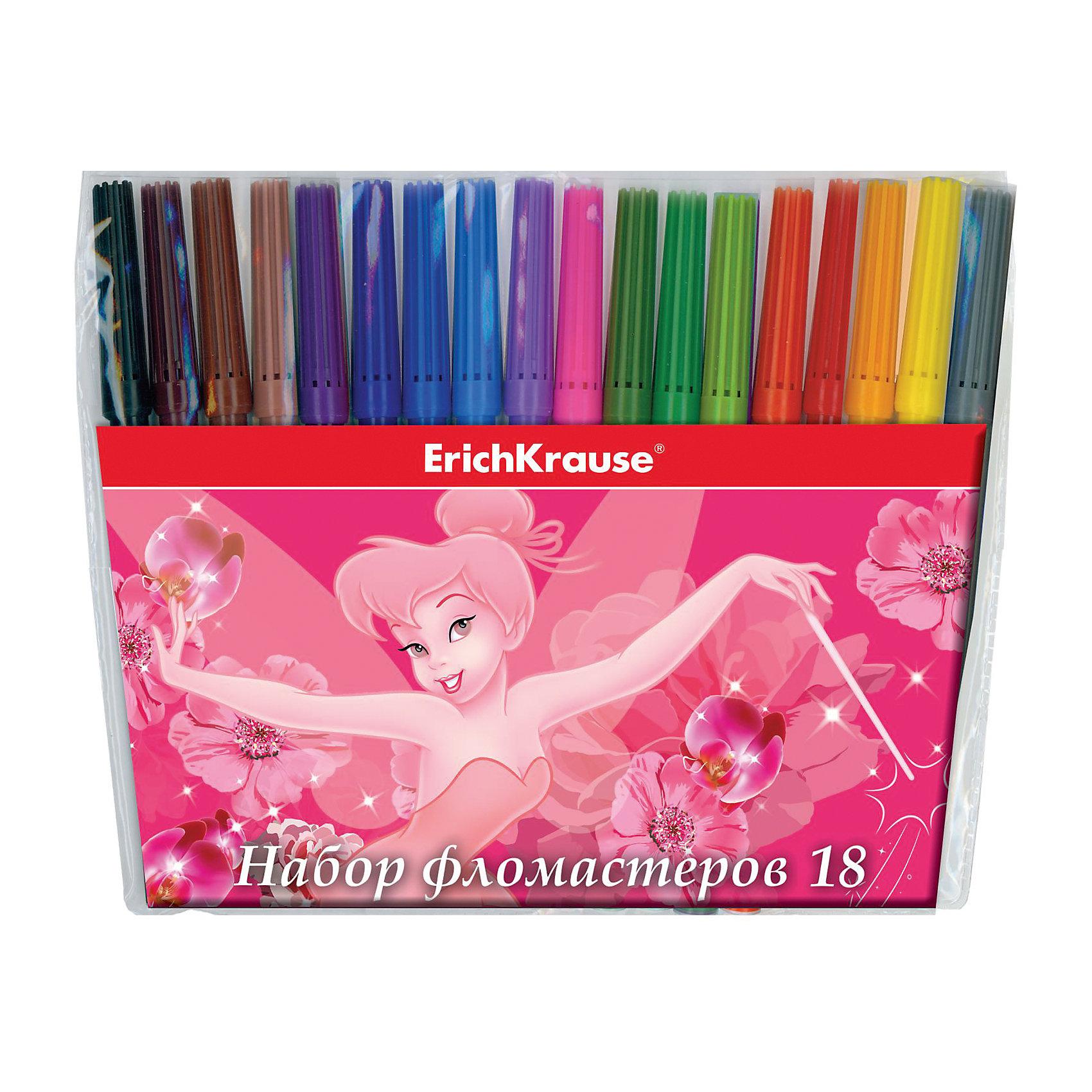 Фломастеры Tink Pink, 18 цветовПисьменные принадлежности<br>Характеристики товара:<br><br>• материал упаковки: пластик <br>• количество цветов: 18<br>• вентилируемый колпачок<br>• возраст: от 3 лет<br>• габариты упаковки: 17,9х17,2х1,2 см<br>• вес: 123 г<br>• страна производитель: Россия<br><br>Здоровое развитие ребенка невозможно без включения творческой программы в его дошкольное обучение. Рисование фломастерами – отличная возможность развить в малыше фантазию и нестандартное мышление. У фломастеров вентилируемый колпачок в целях безопасности.<br><br>Фломастеры Tink Pink, 18 цветов, можно купить в нашем интернет-магазине.<br><br>Ширина мм: 179<br>Глубина мм: 172<br>Высота мм: 12<br>Вес г: 123<br>Возраст от месяцев: 36<br>Возраст до месяцев: 2147483647<br>Пол: Женский<br>Возраст: Детский<br>SKU: 5409271
