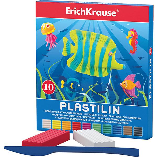 Пластилин 10 цветов, 180г, со стекомРисование и лепка<br>Пластилин 10 цветов, 180г, со стеком<br><br>Характеристики:<br><br>• В набор входит: 10 брусочков пластилина, лопаточка-стек<br>• Размер упаковки: 14,5 * 1,6 * 13 см.<br>• Вес: 213 г.<br>• Для детей в возрасте: от 3-х лет<br>• Страна производитель: Китай<br><br>Десять ярких цветных брусочков пластилина изготовлены из безопасных для детей материалов и уже готовы к лепке. В набор входит лопаточка для пластилина, с ней вы сможете разрезать пластилин, делать его плоским или рифленым. Насыщенные цвета пластилина почти не оставляют следов на руках и могут перемешиваться между собой. Поделки из разных цветов отлично прикрепляются друг к другу. Работая с пластилином вы можете делать объемные фигурки, а также можете наносить пластилин на бумагу, картон или даже стекло, чтобы выполнять новые картины или даже фрески. <br><br>В набор входят основные десять цветов, которые помогут создать настоящие шедевры. Занимаясь лепкой дети развивают моторику рук, творческие способности, восприятие цветов и их сочетаний, а также лепка благотворно влияет на развитие речи, координацию движений, память и логическое мышление. Лепка всей семьей поможет весело и пользой провести время!<br><br>Пластилин 10 цветов, 180г, со стеком можно купить в нашем интернет-магазине<br>Ширина мм: 133; Глубина мм: 145; Высота мм: 16; Вес г: 213; Возраст от месяцев: 60; Возраст до месяцев: 216; Пол: Унисекс; Возраст: Детский; SKU: 5409292;