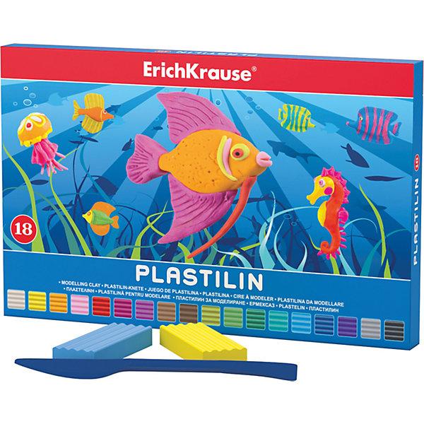 Пластилин 18 цветов, 324г, со стекомРисование и лепка<br>Пластилин 18 цветов, 324г, со стеком<br><br>Характеристики:<br><br>• В набор входит: 18 брусочков пластилина, лопаточка-стек<br>• Размер упаковки: 22,5 * 1,6 * 14 см.<br>• Вес: 383 г.<br>• Для детей в возрасте: от 3-х лет<br>• Страна производитель: Китай<br><br>Восемнадцать ярких цветных брусочков пластилина изготовлены из безопасных для детей материалов и уже готовы к лепке. В набор входит лопаточка для пластилина, с ней вы сможете разрезать пластилин, делать его плоским или рифленым. Насыщенные цвета пластилина почти не оставляют следов на руках и могут перемешиваться между собой. Поделки из разных цветов отлично прикрепляются друг к другу. Работая с пластилином вы можете делать объемные фигурки, а также можете наносить пластилин на бумагу, картон или даже стекло, чтобы выполнять новые картины или даже фрески. <br><br>В набор входят целых восемнадцать цветов, которые помогут создать настоящие шедевры. Занимаясь лепкой дети развивают моторику рук, творческие способности, восприятие цветов и их сочетаний, а также лепка благотворно влияет на развитие речи, координацию движений, память и логическое мышление. Лепка всей семьей поможет весело и пользой провести время!<br><br>Пластилин 18 цветов, 324г, со стеком можно купить в нашем интернет-магазине.<br>Ширина мм: 225; Глубина мм: 143; Высота мм: 16; Вес г: 383; Возраст от месяцев: 60; Возраст до месяцев: 216; Пол: Унисекс; Возраст: Детский; SKU: 5409294;