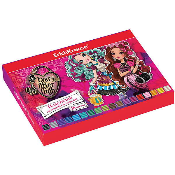 Пластилин 18 цветов Ever After High, 324г, со стеком