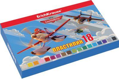 Erich Krause Пластилин 18 цветов Flying Planes, 324г, со стеком