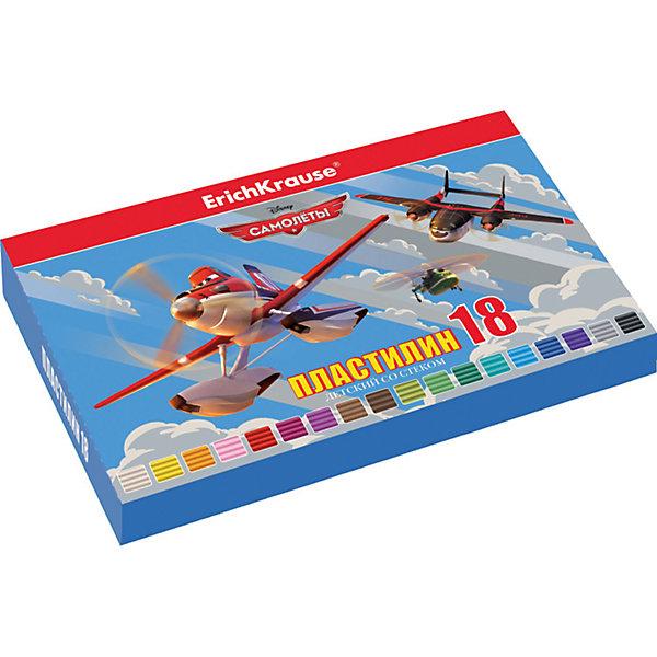Пластилин 18 цветов Flying Planes, 324г, со стекомСамолеты<br>Характеристики товара:<br><br>• упаковка: коробка<br>• в комплект входит: пластилин, стек<br>• количество цветов: 18<br>• возраст: от 3 лет<br>• габариты упаковки: 22х14х1,6 см<br>• вес: 300 г<br>• страна производитель: Россия<br><br>Работа с пластилином благотворно влияет на развитие малыша. Лепка развивает тактильные восприятия, работает с мелкой моторикой и творческими способностями. Итог лепки – яркая и необычная игрушка, сделанная своими руками.<br><br>Пластилин 18 цветов Flying Planes/324г, со стеком, в коробке, можно купить в нашем интернет-магазине.<br><br>Ширина мм: 225<br>Глубина мм: 143<br>Высота мм: 16<br>Вес г: 381<br>Возраст от месяцев: 36<br>Возраст до месяцев: 2147483647<br>Пол: Мужской<br>Возраст: Детский<br>SKU: 5409302