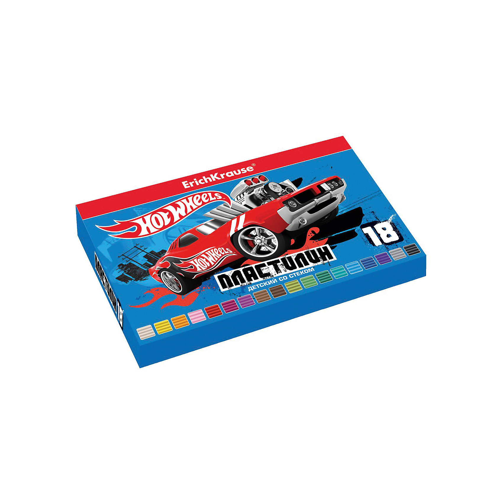 Пластилин 18 цветов Hot Wheels Super Car, 324г, со стеком