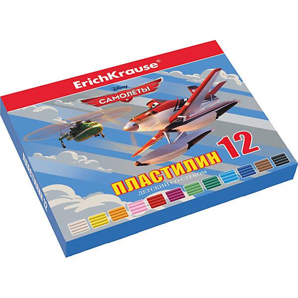 Пластилин 12 цветов Flying Planes, 216г, со стеком