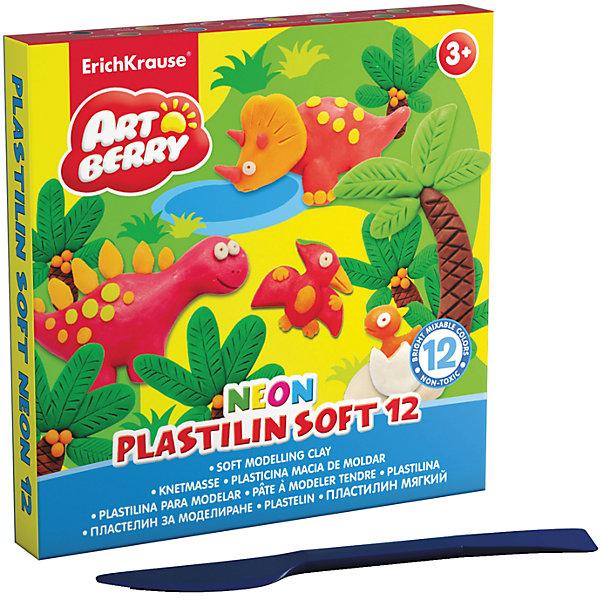 Пластилин мягкий Artberry NEON 12 цветов, 240г, со стекомРисование и лепка<br>Характеристики товара:<br><br>• материал упаковки: картон<br>• в комплект входит: пластилин, стек<br>• количество цветов: 12<br>• возраст: от 3 лет<br>• габариты упаковки: 14х14х1,8 см<br>• вес: 273 г<br>• страна производитель: Россия<br><br>Лепка из мягкого пластилина – полезное и очень увлекательное занятие для детей любого возраста. Лепка развивает мелкую моторику у малыша и творческие способности. Лепить можно самостоятельно и вместе со взрослыми. Пластилин не токсичен.<br><br>Пластилин мягкий Artberry NEON 12 цветов, 240г, со стеком можно купить в нашем интернет-магазине.<br><br>Ширина мм: 140<br>Глубина мм: 140<br>Высота мм: 18<br>Вес г: 273<br>Возраст от месяцев: 36<br>Возраст до месяцев: 2147483647<br>Пол: Унисекс<br>Возраст: Детский<br>SKU: 5409315