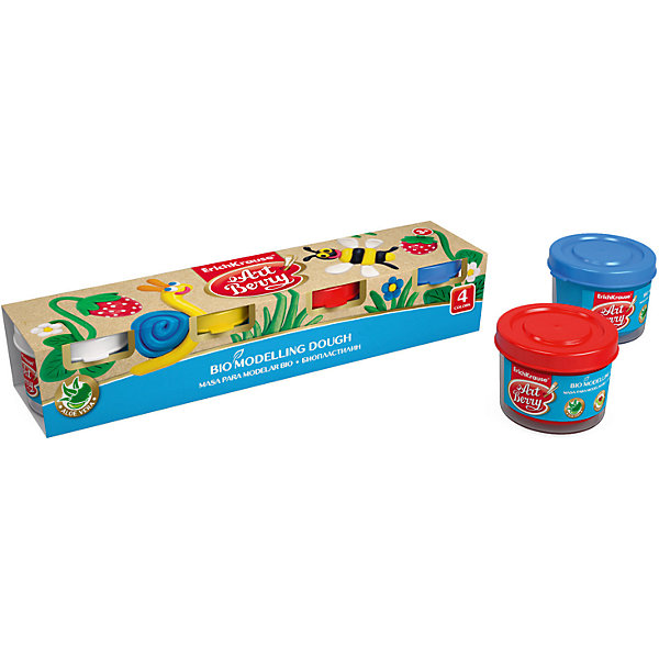 Биопластилин ArtBerry с Алоэ Вера, 4 цвета по 35гРисование и лепка<br>Характеристики товара:<br><br>• материал упаковки: картон<br>• количество цветов: 4<br>• объём каждой баночки: 35 г<br>• возраст: от 5 лет<br>• габариты упаковки: 22х4,0х4,5 см<br>• вес: 193 г<br>• страна производитель: Россия<br><br>Биопластилин – уникальный в своей сфере материал для детского творчества. Быстро и легко разогревается, приятный для лепки и прочный после засыхания. Наличие в составе Алоэ Вера ухаживает за детской кожей и не дает ей пересыхать во время работы с пластилином.<br><br>Биопластилин ArtBerry с Алоэ Вера, 4 цвета по 35г можно купить в нашем интернет-магазине.<br><br>Ширина мм: 220<br>Глубина мм: 40<br>Высота мм: 45<br>Вес г: 193<br>Возраст от месяцев: 36<br>Возраст до месяцев: 2147483647<br>Пол: Унисекс<br>Возраст: Детский<br>SKU: 5409318