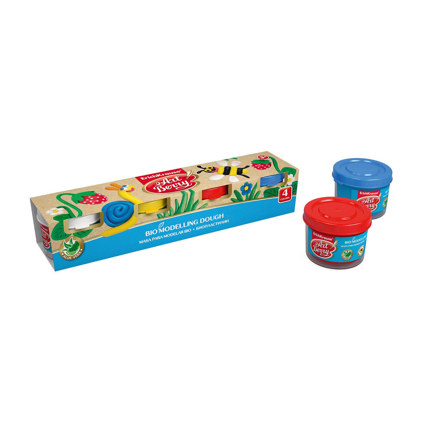 Биопластилин ArtBerry с Алоэ Вера, 4 цвета по 35гЛепка<br>Характеристики товара:<br><br>• материал упаковки: картон<br>• количество цветов: 4<br>• объём каждой баночки: 35 г<br>• возраст: от 5 лет<br>• габариты упаковки: 22х4,0х4,5 см<br>• вес: 193 г<br>• страна производитель: Россия<br><br>Биопластилин – уникальный в своей сфере материал для детского творчества. Быстро и легко разогревается, приятный для лепки и прочный после засыхания. Наличие в составе Алоэ Вера ухаживает за детской кожей и не дает ей пересыхать во время работы с пластилином.<br><br>Биопластилин ArtBerry с Алоэ Вера, 4 цвета по 35г можно купить в нашем интернет-магазине.<br><br>Ширина мм: 220<br>Глубина мм: 40<br>Высота мм: 45<br>Вес г: 193<br>Возраст от месяцев: 36<br>Возраст до месяцев: 2147483647<br>Пол: Унисекс<br>Возраст: Детский<br>SKU: 5409318