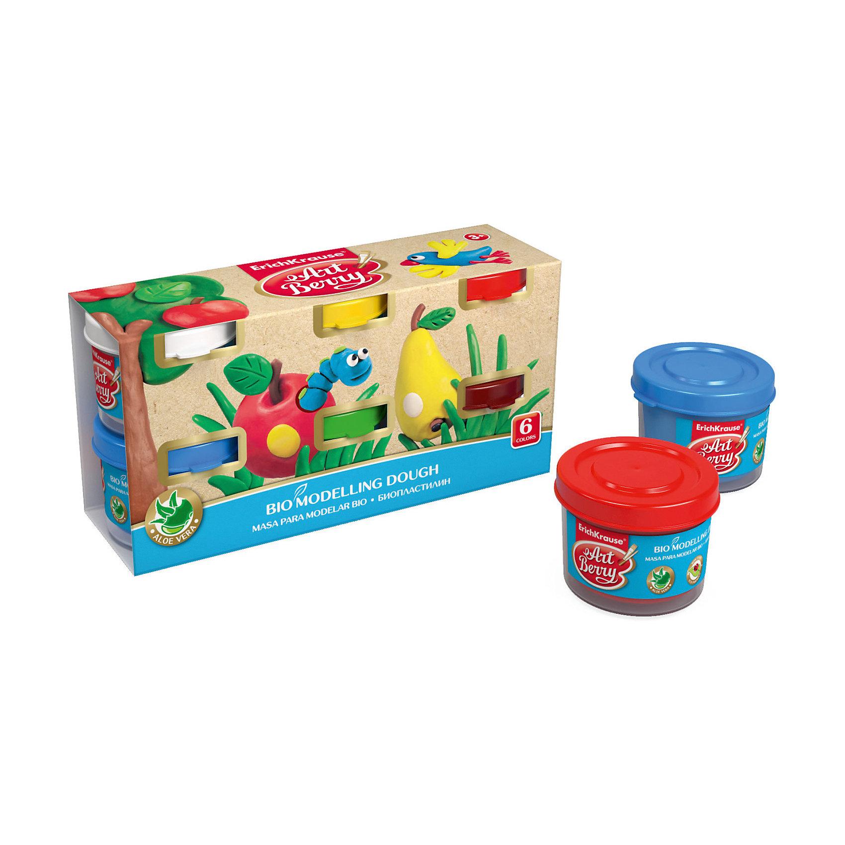 Биопластилин ArtBerry с Алоэ Вера, 6 цветов по 35гЛепка<br>Характеристики товара:<br><br>• материал упаковки: картон<br>• количество цветов: 6<br>• каждая баночка по 35 г<br>• возраст: от 3 лет<br>• габариты упаковки: 15х7х4,5 см<br>• вес: 300 г<br>• страна производитель: Россия<br><br>Биопластилин – уникальный в своей сфере материал для детского творчества. Быстро и легко разогревается, приятный для лепки и прочный после засыхания. Наличие в составе Алоэ Вера ухаживает за детской кожей и не дает ей пересыхать во время работы с пластилином.<br><br>Биопластилин ArtBerry с Алоэ Вера, 6 цвета по 35 г, можно купить в нашем интернет-магазине.<br><br>Ширина мм: 150<br>Глубина мм: 72<br>Высота мм: 45<br>Вес г: 288<br>Возраст от месяцев: 36<br>Возраст до месяцев: 2147483647<br>Пол: Унисекс<br>Возраст: Детский<br>SKU: 5409319