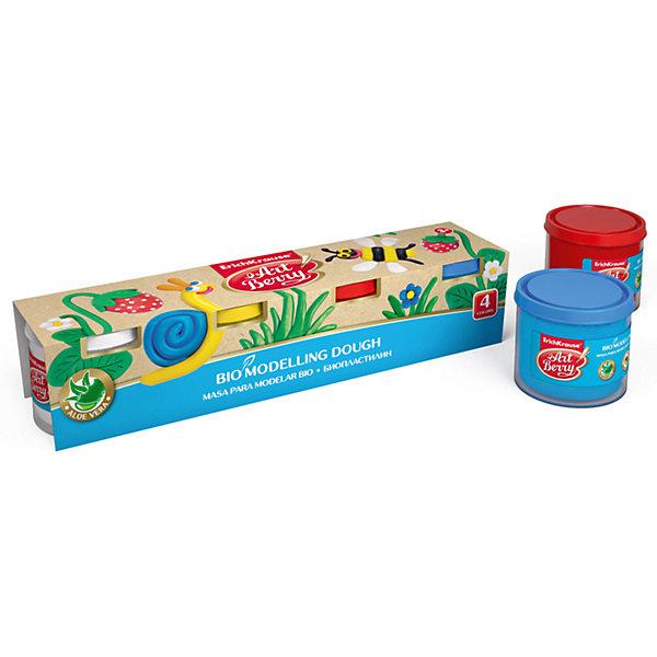 Биопластилин ArtBerry с Алоэ Вера, 4 цвета по 100гРисование и лепка<br>Характеристики товара:<br><br>• материал упаковки: картон<br>• количество цветов: 4<br>• вес каждой баночки: 100 гр<br>• возраст: от 5 лет<br>• габариты упаковки: 26х5,5х5,7 см<br>• вес: 503 г<br>• страна производитель: Россия<br><br>Биопластилин – уникальный в своей сфере материал для детского творчества. Быстро и легко разогревается, приятный для лепки и прочный после засыхания. Наличие в составе Алоэ Вера ухаживает за детской кожей и не дает ей пересыхать во время работы с пластилином.<br><br>Биопластилин ArtBerry с Алоэ Вера, 4 цвета по 100г можно купить в нашем интернет-магазине.<br>Ширина мм: 260; Глубина мм: 55; Высота мм: 57; Вес г: 503; Возраст от месяцев: 36; Возраст до месяцев: 2147483647; Пол: Унисекс; Возраст: Детский; SKU: 5409321;