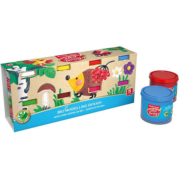 Биопластилин ArtBerry с Алоэ Вера, 8 цветов по 100гРисование и лепка<br>Характеристики товара:<br><br>• материал упаковки: картон<br>• количество цветов: 8<br>• вес каждой баночки: 100 гр<br>• возраст: от 3 лет<br>• габариты упаковки: 19,5х13,5х12 см<br>• вес: 972 г<br>• страна производитель: Россия<br><br>Биопластилин – уникальный в своей сфере материал для детского творчества. Быстро и легко разогревается, приятный для лепки и прочный после засыхания. Наличие в составе Алоэ Вера ухаживает за детской кожей и не дает ей пересыхать во время работы с пластилином.<br><br>Биопластилин ArtBerry с Алоэ Вера, 8 цветов по 100г можно купить в нашем интернет-магазине.<br>Ширина мм: 195; Глубина мм: 135; Высота мм: 120; Вес г: 972; Возраст от месяцев: 36; Возраст до месяцев: 2147483647; Пол: Унисекс; Возраст: Детский; SKU: 5409323;