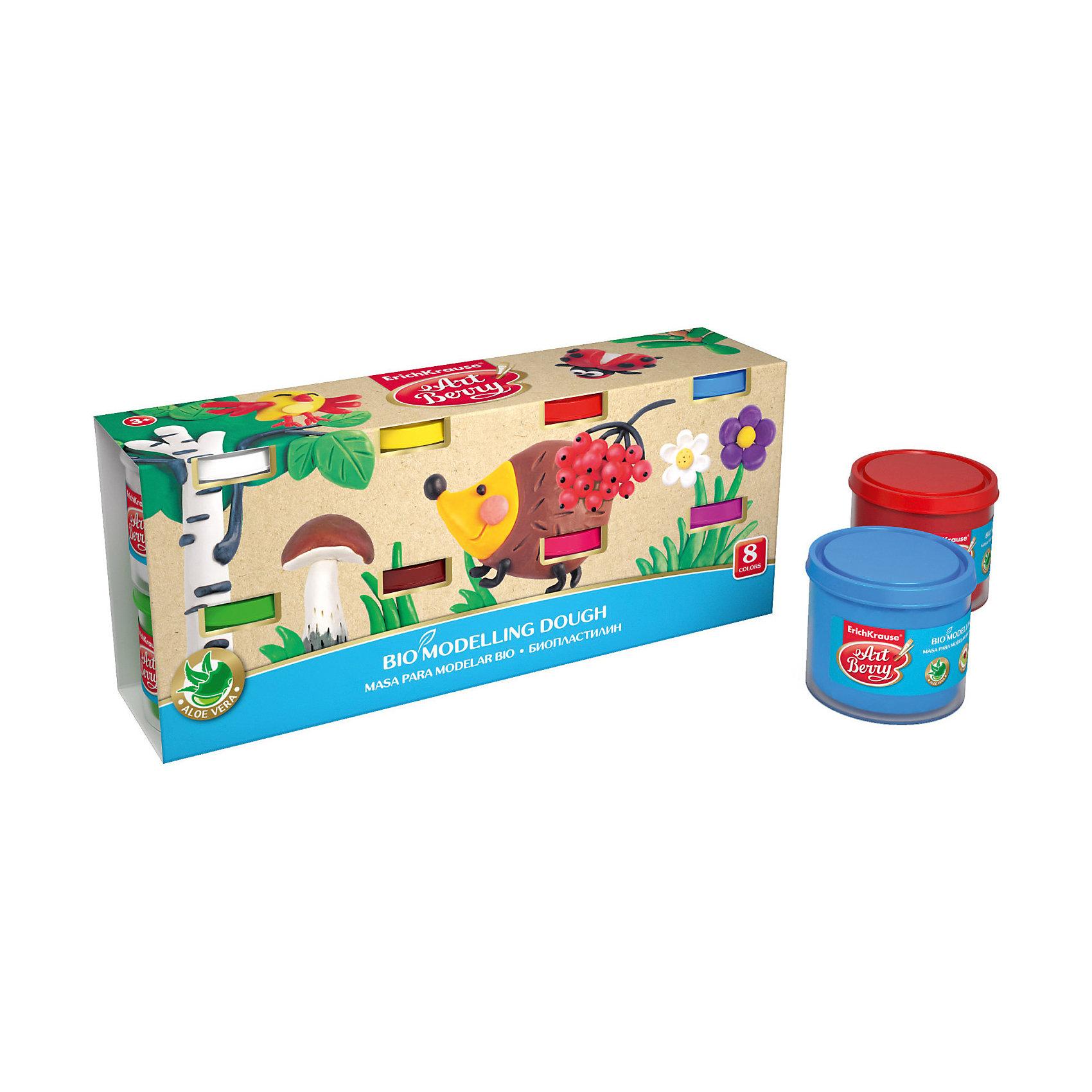 Биопластилин ArtBerry с Алоэ Вера, 8 цветов по 100гЛепка<br>Характеристики товара:<br><br>• материал упаковки: картон<br>• количество цветов: 8<br>• вес каждой баночки: 100 гр<br>• возраст: от 3 лет<br>• габариты упаковки: 19,5х13,5х12 см<br>• вес: 972 г<br>• страна производитель: Россия<br><br>Биопластилин – уникальный в своей сфере материал для детского творчества. Быстро и легко разогревается, приятный для лепки и прочный после засыхания. Наличие в составе Алоэ Вера ухаживает за детской кожей и не дает ей пересыхать во время работы с пластилином.<br><br>Биопластилин ArtBerry с Алоэ Вера, 8 цветов по 100г можно купить в нашем интернет-магазине.<br><br>Ширина мм: 195<br>Глубина мм: 135<br>Высота мм: 120<br>Вес г: 972<br>Возраст от месяцев: 36<br>Возраст до месяцев: 2147483647<br>Пол: Унисекс<br>Возраст: Детский<br>SKU: 5409323
