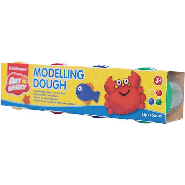 Пластилин на растительной основе Modelling Dough №1, 4 цвета по 35гРисование и лепка<br>Характеристики товара:<br><br>• материал упаковки: картон<br>• в комплект входит: 4 банки по 35 г<br>• возраст: от 3 лет<br>• габариты упаковки: 22,0х4х4,5 см<br>• вес: 193 г<br>• страна производитель: Россия<br><br>Натуральная продукция – настоящая находка для детского творчества. Так, пластилин на растительной основе станет любимым материалов для творчества у вашего малыша. Мягкий, приятный для тактильного восприятия, он станет фаворитом среди пластилинов у малыша.<br><br>Пластилин на растительной основе Modelling Dough №1, 4 цвета по 35 г, можно купить в нашем интернет-магазине.<br>Ширина мм: 220; Глубина мм: 40; Высота мм: 45; Вес г: 193; Возраст от месяцев: 36; Возраст до месяцев: 2147483647; Пол: Унисекс; Возраст: Детский; SKU: 5409324;