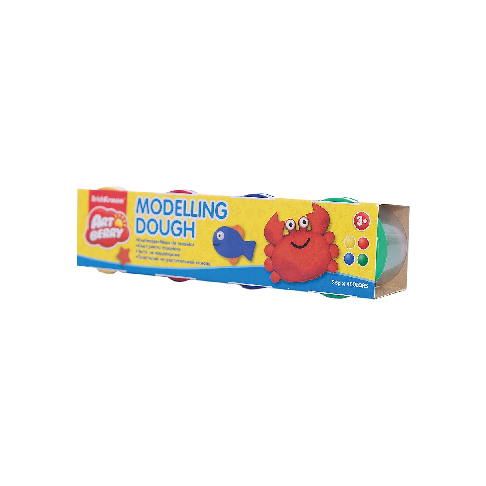 Пластилин на растительной основе Modelling Dough №1, 4 цвета по 35гЛепка<br>Характеристики товара:<br><br>• материал упаковки: картон<br>• в комплект входит: 4 банки по 35 г<br>• возраст: от 3 лет<br>• габариты упаковки: 22,0х4х4,5 см<br>• вес: 193 г<br>• страна производитель: Россия<br><br>Натуральная продукция – настоящая находка для детского творчества. Так, пластилин на растительной основе станет любимым материалов для творчества у вашего малыша. Мягкий, приятный для тактильного восприятия, он станет фаворитом среди пластилинов у малыша.<br><br>Пластилин на растительной основе Modelling Dough №1, 4 цвета по 35 г, можно купить в нашем интернет-магазине.<br><br>Ширина мм: 220<br>Глубина мм: 40<br>Высота мм: 45<br>Вес г: 193<br>Возраст от месяцев: 36<br>Возраст до месяцев: 2147483647<br>Пол: Унисекс<br>Возраст: Детский<br>SKU: 5409324