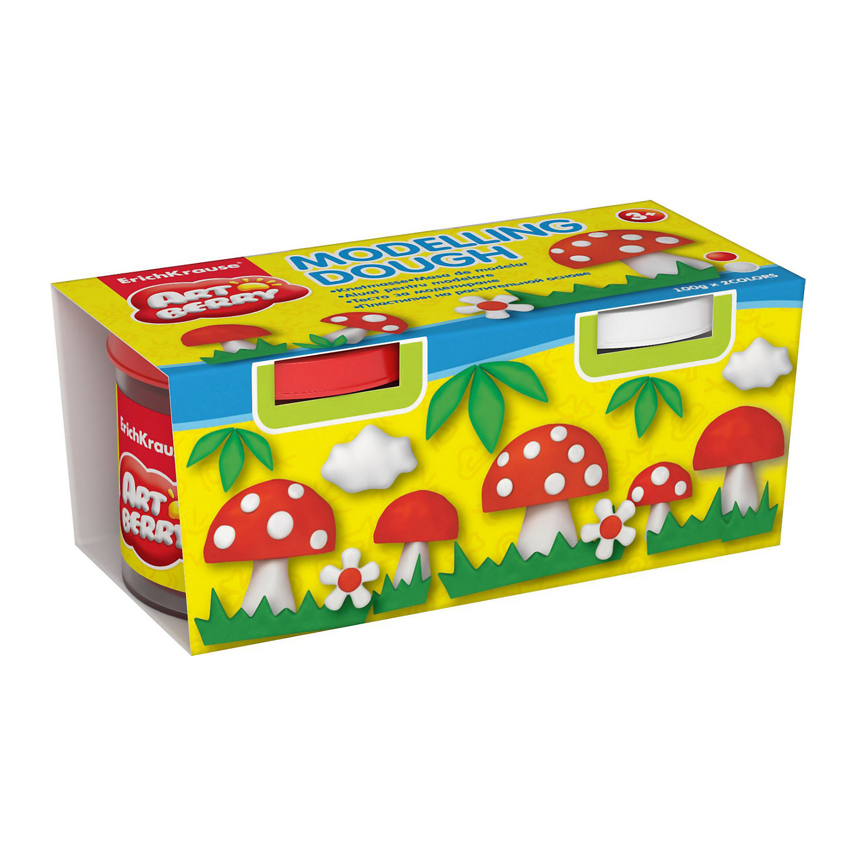 Пластилин на растительной основе Modelling Dough, 2 цвета по 100г (красный, белый)Рисование и лепка<br>Характеристики товара:<br><br>• материал упаковки: картон<br>• в комплект входит: 2 банки по 100 г<br>• возраст: от 3 лет<br>• габариты упаковки: 22,0х4х4,5 см<br>• вес: 200 г<br>• страна производитель: Россия<br><br>Натуральная продукция – настоящая находка для детского творчества. Так, пластилин на растительной основе станет любимым материалов для творчества у вашего малыша. Мягкий, приятный для тактильного восприятия, он станет фаворитом среди пластилинов у малыша.<br><br>Пластилин на растительной основе Modelling Dough, 2 цвета по 100г (красный, белый), можно купить в нашем интернет-магазине.<br><br>Ширина мм: 130<br>Глубина мм: 55<br>Высота мм: 57<br>Вес г: 253<br>Возраст от месяцев: 36<br>Возраст до месяцев: 2147483647<br>Пол: Унисекс<br>Возраст: Детский<br>SKU: 5409326