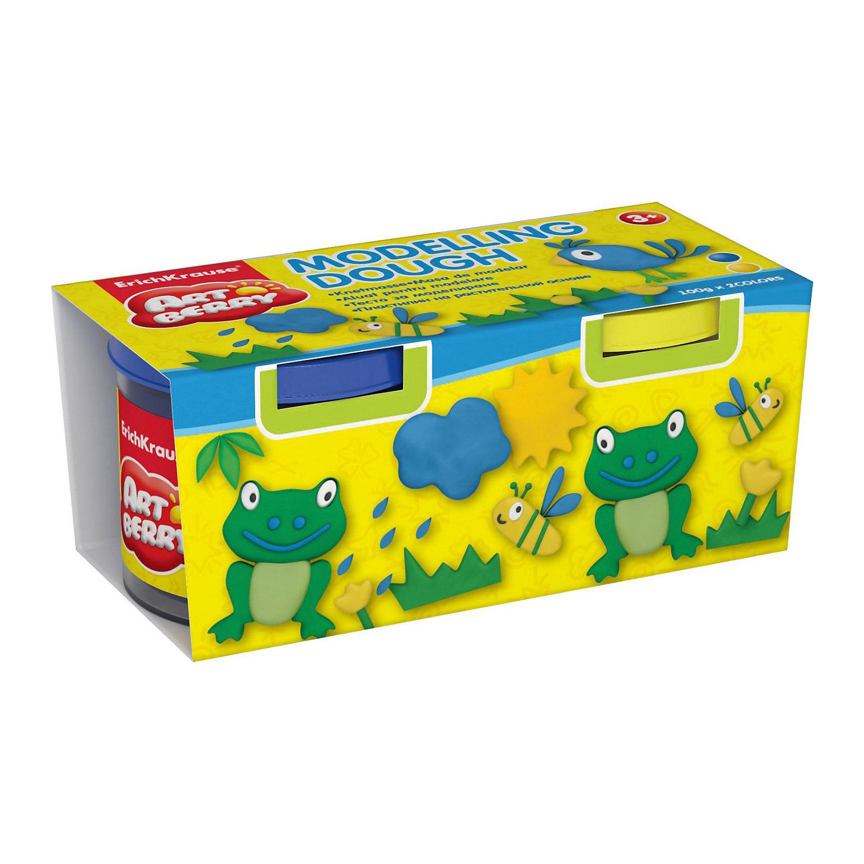 Пластилин на растительной основе Modelling Dough, 2 цвета по 100г (желтый, синий)Рисование и лепка<br>Характеристики товара:<br><br>• материал упаковки: картон<br>• в комплект входит: 2 банки по 100 г<br>• возраст: от 3 лет<br>• габариты упаковки: 22,0х4х4,5 см<br>• вес: 200 г<br>• страна производитель: Россия<br><br>Натуральная продукция – настоящая находка для детского творчества. Так, пластилин на растительной основе станет любимым материалов для творчества у вашего малыша. Мягкий, приятный для тактильного восприятия, он станет фаворитом среди пластилинов у малыша.<br><br>Пластилин на растительной основе Modelling Dough, 2 цвета по 100г (желтый, синий), можно купить в нашем интернет-магазине.<br><br>Ширина мм: 130<br>Глубина мм: 55<br>Высота мм: 57<br>Вес г: 253<br>Возраст от месяцев: 36<br>Возраст до месяцев: 2147483647<br>Пол: Унисекс<br>Возраст: Детский<br>SKU: 5409327