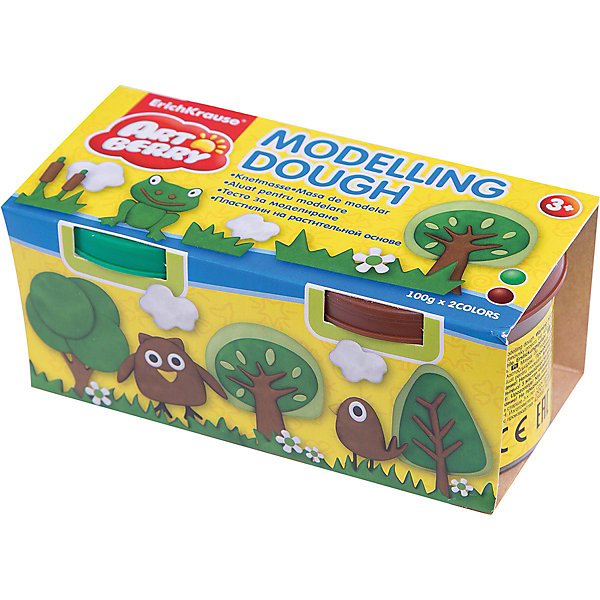 Пластилин на растительной основе Modelling Dough, 2 цвета по 100г (зеленый, коричневый)Рисование и лепка<br>Характеристики товара:<br><br>• материал упаковки: картон<br>• в комплект входит: 2 банки по 100 г<br>• возраст: от 3 лет<br>• габариты упаковки: 22,0х4х4,5 см<br>• вес: 200 г<br>• страна производитель: Россия<br><br>Натуральная продукция – настоящая находка для детского творчества. Так, пластилин на растительной основе станет любимым материалов для творчества у вашего малыша. Мягкий, приятный для тактильного восприятия, он станет фаворитом среди пластилинов у малыша.<br><br>Пластилин на растительной основе Modelling Dough, 2 цвета по 100 г (зеленый, коричневый), можно купить в нашем интернет-магазине.<br><br>Ширина мм: 130<br>Глубина мм: 55<br>Высота мм: 57<br>Вес г: 253<br>Возраст от месяцев: 36<br>Возраст до месяцев: 2147483647<br>Пол: Унисекс<br>Возраст: Детский<br>SKU: 5409328