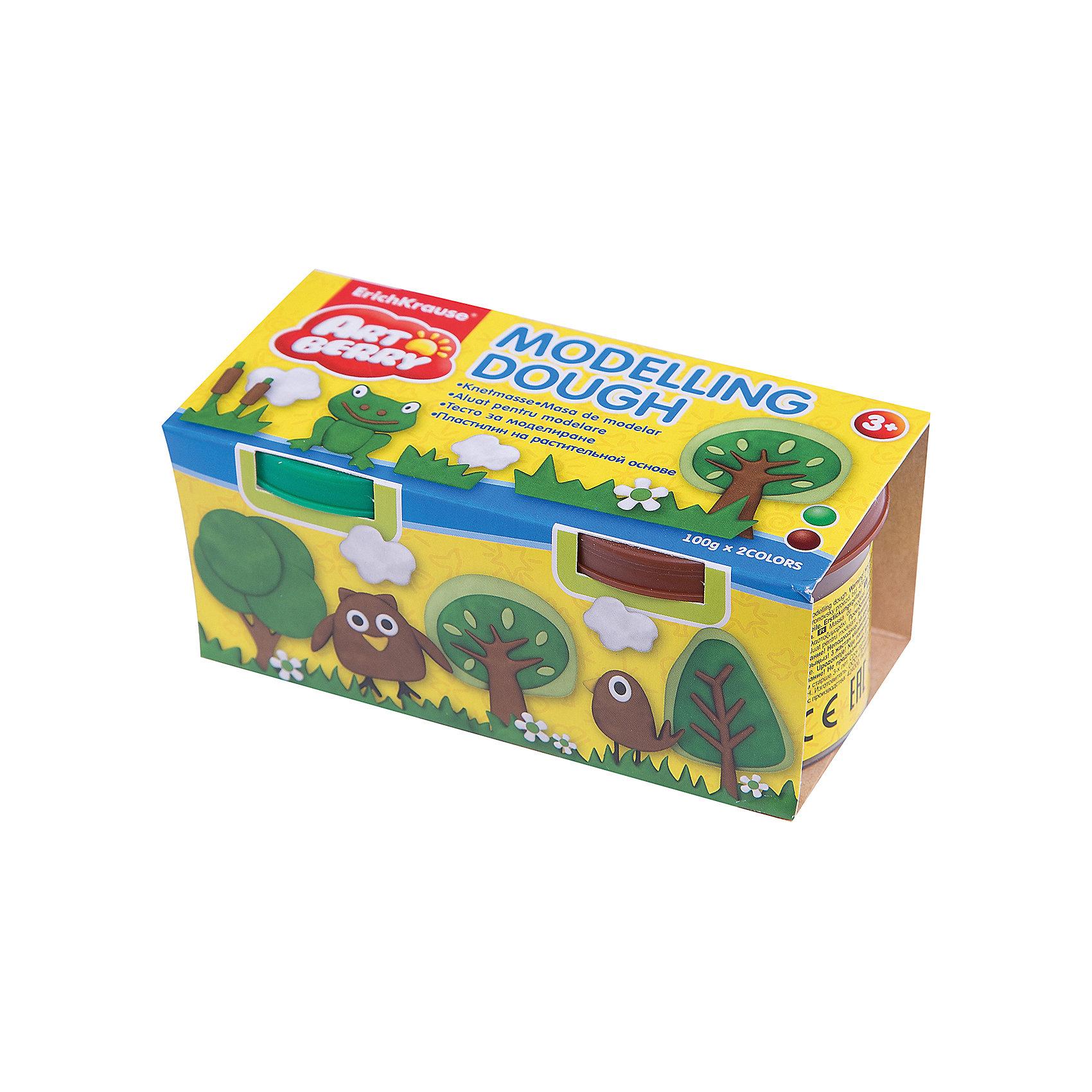 Пластилин на растительной основе Modelling Dough, 2 цвета по 100г (зеленый, коричневый)Пластилин на растит. основе Modelling Dough, 2 бан/100г зел+корич, карт.рукав<br><br>Ширина мм: 130<br>Глубина мм: 55<br>Высота мм: 57<br>Вес г: 253<br>Возраст от месяцев: 60<br>Возраст до месяцев: 216<br>Пол: Унисекс<br>Возраст: Детский<br>SKU: 5409328