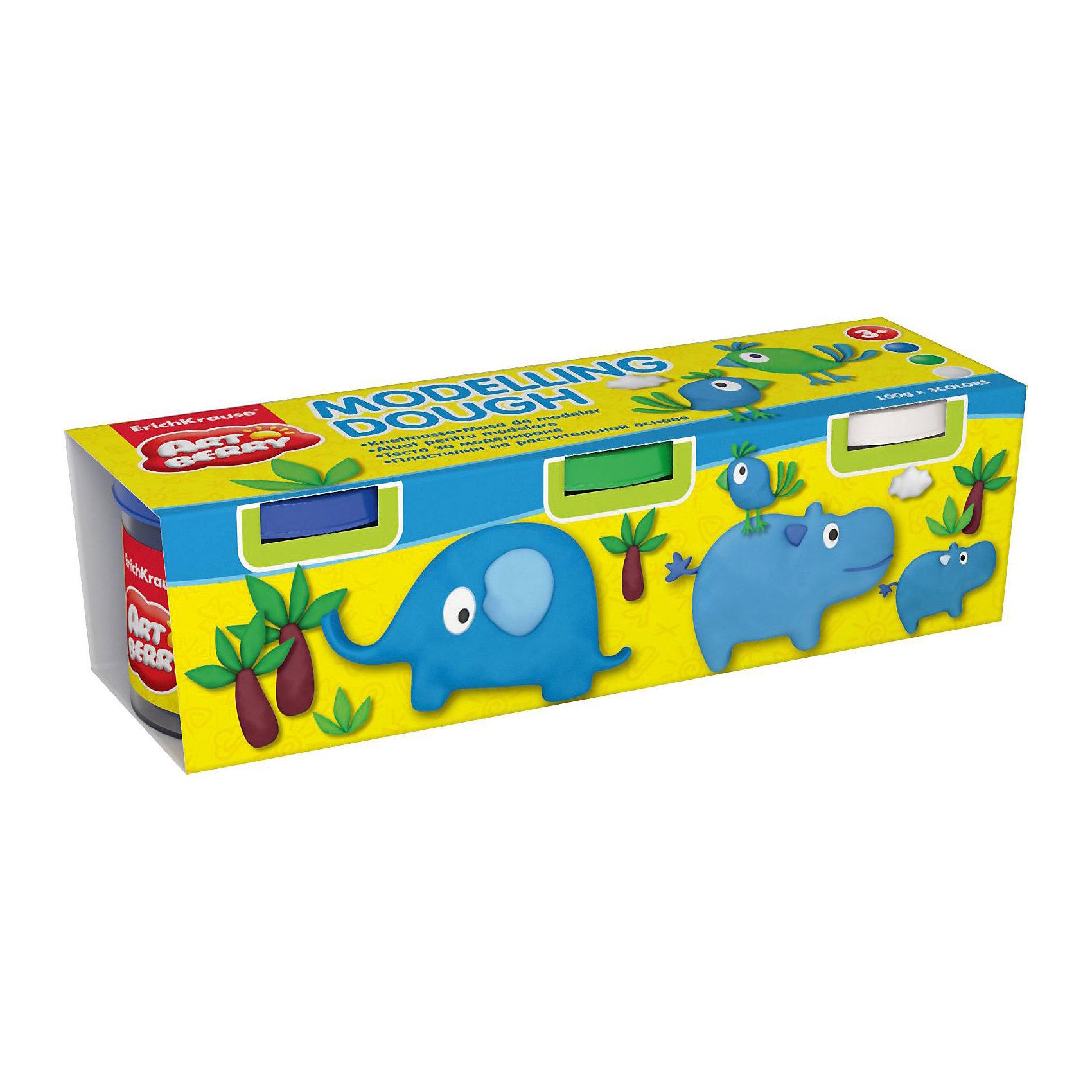Пластилин на растительной основе Modelling Dough №3, 3 цвета по 100гЛепка<br>Характеристики товара:<br><br>• материал упаковки: картон<br>• в комплект входит: 3 банки по 100 г<br>• возраст: от 3 лет<br>• габариты упаковки: 20х5х6 см<br>• вес: 300 г<br>• страна производитель: Россия<br><br>Натуральная продукция – настоящая находка для детского творчества. Так, пластилин на растительной основе станет любимым материалов для творчества у вашего малыша. Мягкий, приятный для тактильного восприятия, он станет фаворитом среди пластилинов у малыша.<br><br>Пластилин на растительной основе Modelling Dough №3, 3 цвета по 100 г, можно купить в нашем интернет-магазине.<br><br>Ширина мм: 195<br>Глубина мм: 55<br>Высота мм: 57<br>Вес г: 382<br>Возраст от месяцев: 36<br>Возраст до месяцев: 2147483647<br>Пол: Унисекс<br>Возраст: Детский<br>SKU: 5409331