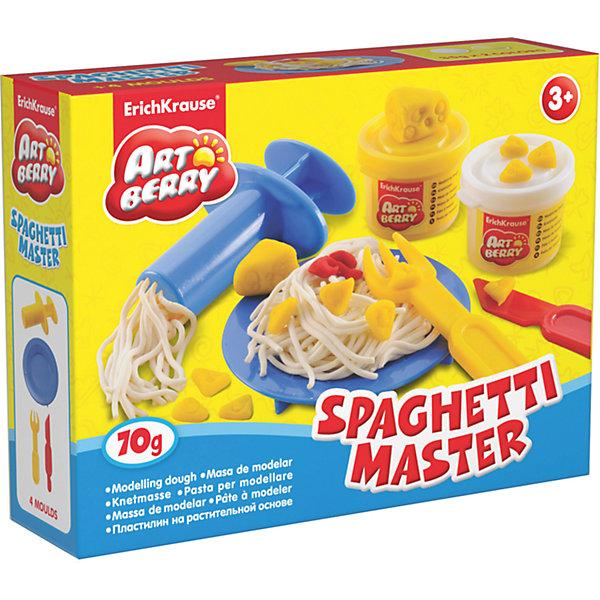 Набор для лепки: Пластилин на растительной основе Spaghetti Master 2 цвета по 35гНаборы для лепки<br>Характеристики товара:<br><br>• материал упаковки: картонная коробка в термоплёнке<br>• в комплект входит: 2 цвета пластилина по 35 г + тарелка, вилка, шприц для пластилина, стек<br>• возраст: от 3 лет<br>• габариты упаковки: 15х12х4 см<br>• вес: 100 г<br>• страна производитель: Россия<br><br>Натуральная продукция – настоящая находка для детского творчества. Так, пластилин на растительной основе станет любимым материалов для творчества у вашего малыша. Мягкий, приятный для тактильного восприятия, он станет фаворитом среди пластилинов у малыша.<br><br>Набор для лепки: Пластилин на растительной основе Spaghetti Master 2 цвета по 35 г, можно купить в нашем интернет-магазине.<br><br>Ширина мм: 155<br>Глубина мм: 115<br>Высота мм: 40<br>Вес г: 172<br>Возраст от месяцев: 36<br>Возраст до месяцев: 2147483647<br>Пол: Унисекс<br>Возраст: Детский<br>SKU: 5409333