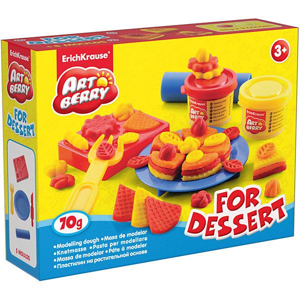 Набор для лепки: Пластилин на растительной основе For Dessert 2 цвета по 35гНаборы для лепки<br>Характеристики товара:<br><br>• материал упаковки: картонная коробка в термоплёнке<br>• в комплект входит: 2 цвета пластилина по 35 г + форма-трафарет для лепки, тарелка, вилка, скалка, стек <br>• возраст: от 3 лет<br>• габариты упаковки: 15х12х4 см<br>• вес: 100 г<br>• страна производитель: Россия<br><br>Натуральная продукция – настоящая находка для детского творчества. Так, пластилин на растительной основе станет любимым материалов для творчества у вашего малыша. Мягкий, приятный для тактильного восприятия, он станет фаворитом среди пластилинов у малыша.<br><br>Набор для лепки: Пластилин на растительной основе For Dessert 2 цвета по 35 г, можно купить в нашем интернет-магазине.<br>Ширина мм: 155; Глубина мм: 115; Высота мм: 40; Вес г: 177; Возраст от месяцев: 36; Возраст до месяцев: 2147483647; Пол: Унисекс; Возраст: Детский; SKU: 5409334;