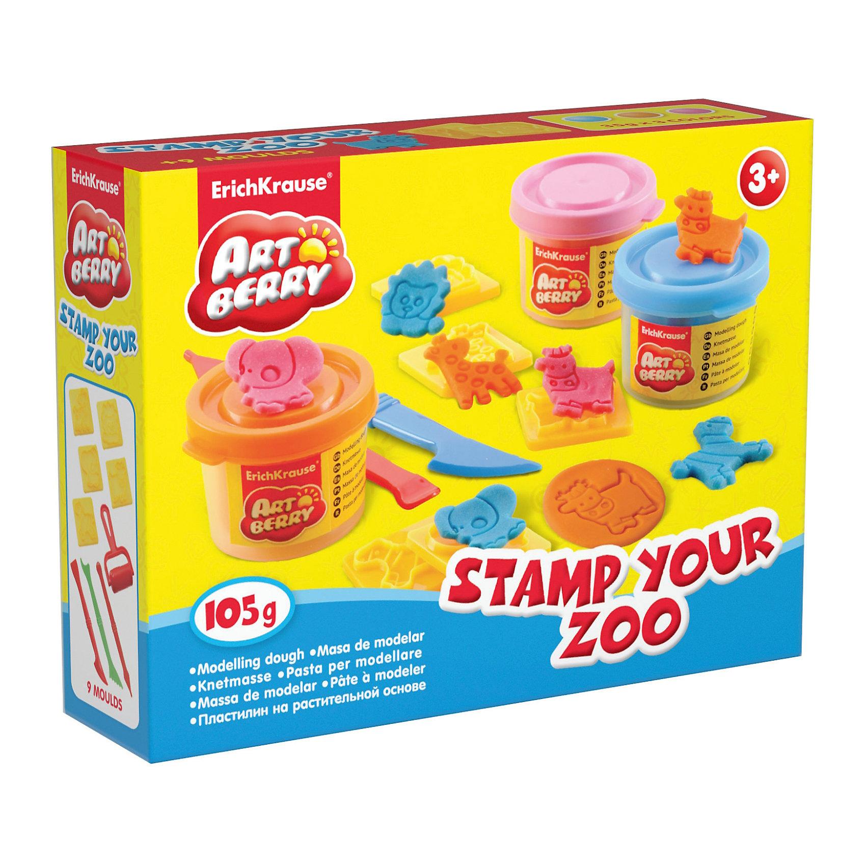 Набор для лепки: Пластилин на растительной основе Stamp Your Zoo 3 цвета по 35гНаборы для лепки<br>Характеристики товара:<br><br>• материал упаковки: картонная коробка в термоплёнке<br>• в комплект входит: 3 цвета пластилина по 35 г + 5 штампов, 3 стека, ролик для пластилина<br>• возраст: от 3 лет<br>• габариты упаковки: 15х12х4 см<br>• вес: 200 г<br>• страна производитель: Россия<br><br>Натуральная продукция – настоящая находка для детского творчества. Так, пластилин на растительной основе станет любимым материалов для творчества у вашего малыша. Мягкий, приятный для тактильного восприятия, он станет фаворитом среди пластилинов у малыша.<br><br>Набор для лепки: Пластилин на растительной основе Stamp Your Zoo 3 цвета по 35 г, можно купить в нашем интернет-магазине.<br><br>Ширина мм: 155<br>Глубина мм: 115<br>Высота мм: 40<br>Вес г: 206<br>Возраст от месяцев: 36<br>Возраст до месяцев: 2147483647<br>Пол: Унисекс<br>Возраст: Детский<br>SKU: 5409336