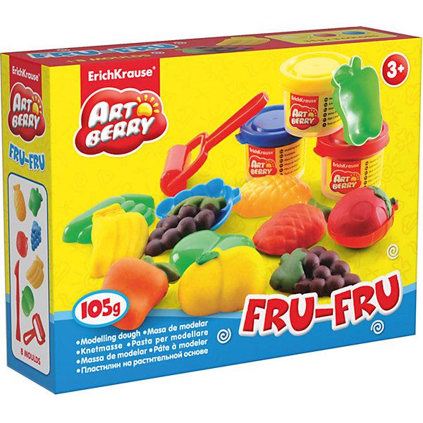 Набор для лепки: Пластилин на растительной основе Fru-Fru 3 цвета по 35гНаборы для лепки<br>Характеристики товара:<br><br>• материал упаковки: картонная коробка в термоплёнке<br>• в комплект входит: 3 цвета пластилина по 35 г + 6 объёмных формочек, стек, ролик для пластилина<br>• возраст: от 3 лет<br>• габариты упаковки: 15х12х4 см<br>• вес: 200 г<br>• страна производитель: Россия<br><br>Натуральная продукция – настоящая находка для детского творчества. Так, пластилин на растительной основе станет любимым материалов для творчества у вашего малыша. Мягкий, приятный для тактильного восприятия, он станет фаворитом среди пластилинов у малыша.<br><br>Набор для лепки: Пластилин на растительной основе Fru-Fru 3 цвета по 35 г, можно купить в нашем интернет-магазине.<br><br>Ширина мм: 155<br>Глубина мм: 115<br>Высота мм: 40<br>Вес г: 198<br>Возраст от месяцев: 36<br>Возраст до месяцев: 2147483647<br>Пол: Унисекс<br>Возраст: Детский<br>SKU: 5409337