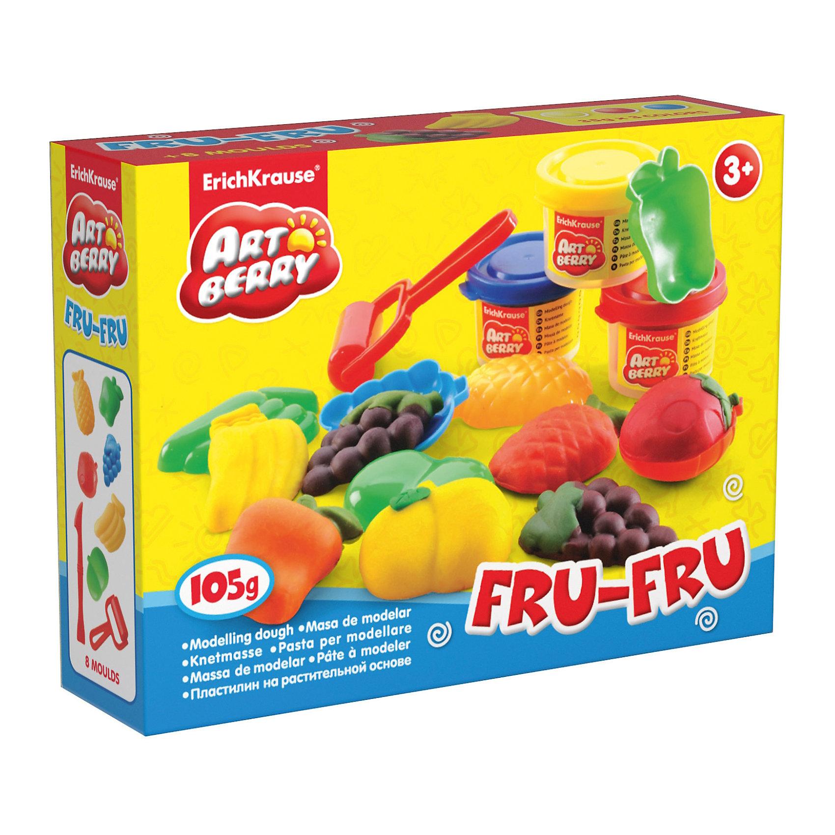 Набор для лепки: Пластилин на растительной основе Fru-Fru 3 цвета по 35гЛепка<br>Характеристики товара:<br><br>• материал упаковки: картонная коробка в термоплёнке<br>• в комплект входит: 3 цвета пластилина по 35 г + 6 объёмных формочек, стек, ролик для пластилина<br>• возраст: от 3 лет<br>• габариты упаковки: 15х12х4 см<br>• вес: 200 г<br>• страна производитель: Россия<br><br>Натуральная продукция – настоящая находка для детского творчества. Так, пластилин на растительной основе станет любимым материалов для творчества у вашего малыша. Мягкий, приятный для тактильного восприятия, он станет фаворитом среди пластилинов у малыша.<br><br>Набор для лепки: Пластилин на растительной основе Fru-Fru 3 цвета по 35 г, можно купить в нашем интернет-магазине.<br><br>Ширина мм: 155<br>Глубина мм: 115<br>Высота мм: 40<br>Вес г: 198<br>Возраст от месяцев: 36<br>Возраст до месяцев: 2147483647<br>Пол: Унисекс<br>Возраст: Детский<br>SKU: 5409337