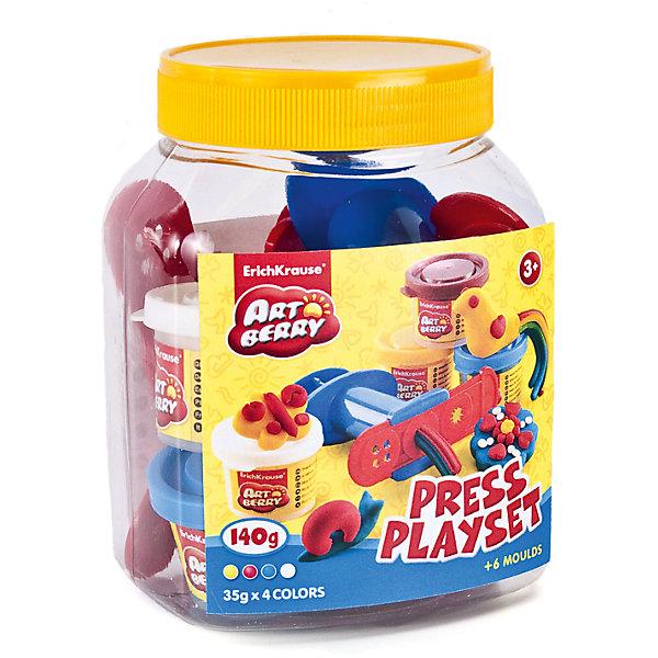 Набор для лепки: Пластилин на растительной основе Press Playset 4 цвета по 35гНаборы для лепки<br>Характеристики товара:<br><br>• материал упаковки: картонная коробка в термоплёнке<br>• в комплект входит: 4 цвета пластилина по 35 г + шприц для пластилина, 4 декоративные линейки, стек <br>• возраст: от 3 лет<br>• габариты упаковки: 11х14х10 см<br>• вес: 300 г<br>• страна производитель: Россия<br><br>Натуральная продукция – настоящая находка для детского творчества. Так, пластилин на растительной основе станет любимым материалов для творчества у вашего малыша. Мягкий, приятный для тактильного восприятия, он станет фаворитом среди пластилинов у малыша.<br><br>Набор для лепки: Пластилин на растительной основе Press Playset 4 цвета по 35 г, можно купить в нашем интернет-магазине.<br><br>Ширина мм: 110<br>Глубина мм: 140<br>Высота мм: 95<br>Вес г: 308<br>Возраст от месяцев: 36<br>Возраст до месяцев: 2147483647<br>Пол: Унисекс<br>Возраст: Детский<br>SKU: 5409338