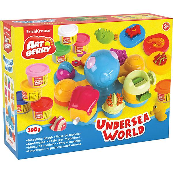 Набор для лепки: Пластилин на растительной основе Undersea World 8 цветов по 35гНаборы для лепки<br>Характеристики товара:<br><br>• материал упаковки: картонная коробка в термоплёнке<br>• в комплект входит: 8 цветов пластилина по 35 г + осьминог - игрушка, 3 объемных формочки, фигурный нож, насадка-штамп, насадка-валик, насадка-рыбка, насадка-крабик, насадка-пресс<br>• возраст: от 3 лет<br>• габариты упаковки: 35х28х12 см<br>• вес: 1100 г<br>• страна производитель: Россия<br><br>Натуральная продукция – настоящая находка для детского творчества. Так, пластилин на растительной основе станет любимым материалов для творчества у вашего малыша. Мягкий, приятный для тактильного восприятия, он станет фаворитом среди пластилинов у малыша.<br><br>Набор для лепки: Пластилин на растительной основе Undersea World 8 цветов по 35 г, можно купить в нашем интернет-магазине.<br><br>Ширина мм: 355<br>Глубина мм: 275<br>Высота мм: 117<br>Вес г: 1166<br>Возраст от месяцев: 36<br>Возраст до месяцев: 2147483647<br>Пол: Унисекс<br>Возраст: Детский<br>SKU: 5409340