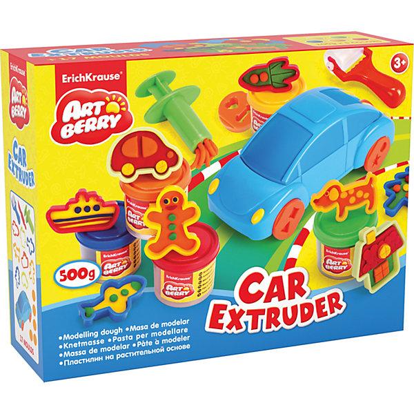 Купить Набор для лепки: Пластилин на растительной основе Car Extruder 5 цвета по 100г, Erich Krause, Россия, Унисекс