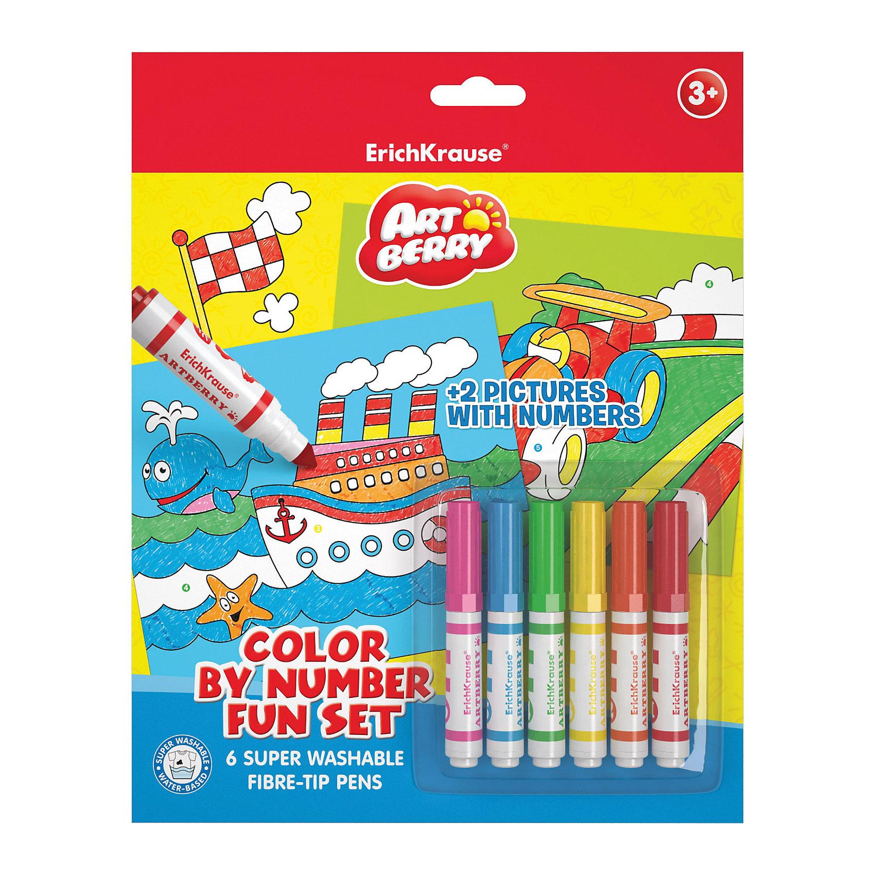 Набор для раскрашивания по номерам для мальчиков, ArtBerryНабор для раскрашивания по номерам для мальчиков, ArtBerry<br><br>Характеристики:<br><br>• В набор входит: 2 раскраски, 6 фломастеров<br>• Размер упаковки: 29 * 1,5 * 23 см.<br>• Вес: 167 г.<br>• Для детей в возрасте: от 3 до 5 лет<br>• Страна производитель: Россия<br><br>Безопасные фломастеры на водной основе отлично смываются с рук и одежды. Они ярко рисуют без сильного нажима и легко помещаются в руку. Рисуя с раскрасками дети развивают моторику рук, творческие способности, учатся подбирать цветовую гамму. Дети запоминают формы, учатся как правильно рисовать фигуры, улучшают внимание, усидчивость, терпение, аккуратность и концентрацию. Выполняя каждую раскраску растёт и самооценка ребёнка, так как он сам справился с работой и довёл её до конца.<br><br>Набор для раскрашивания по номерам для мальчиков, ArtBerry можно купить в нашем интернет-магазине.<br><br>Ширина мм: 230<br>Глубина мм: 290<br>Высота мм: 15<br>Вес г: 167<br>Возраст от месяцев: 60<br>Возраст до месяцев: 216<br>Пол: Мужской<br>Возраст: Детский<br>SKU: 5409348