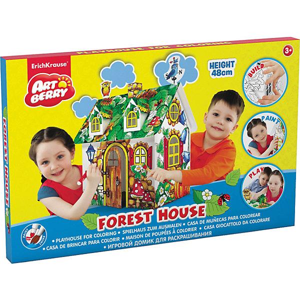 Игровой домик для раскрашивания Лесной дом, ArtberryНаборы для раскрашивания<br>Характеристики товара:<br><br>• материал: бумага <br>• возраст: от 3 лет<br>• высота игрушки: 25 см<br>• габариты упаковки: 48х31х23 см<br>• вес: 525 г<br>• страна производитель: Россия<br><br>Новый формат раскраски придется по вкусу всем юным фантазерам! Прежде, чем приступить к раскрашиванию домика, нужно его собрать из готовых деталей. Готовый домик можно использовать в качестве самостоятельной игрушки или элемента декора комнатного интерьера.<br><br>Игровой домик для раскрашивания Лесной дом от бренда Artberry можно купить в нашем интернет-магазине.<br><br>Ширина мм: 480<br>Глубина мм: 310<br>Высота мм: 230<br>Вес г: 525<br>Возраст от месяцев: 36<br>Возраст до месяцев: 2147483647<br>Пол: Унисекс<br>Возраст: Детский<br>SKU: 5409361