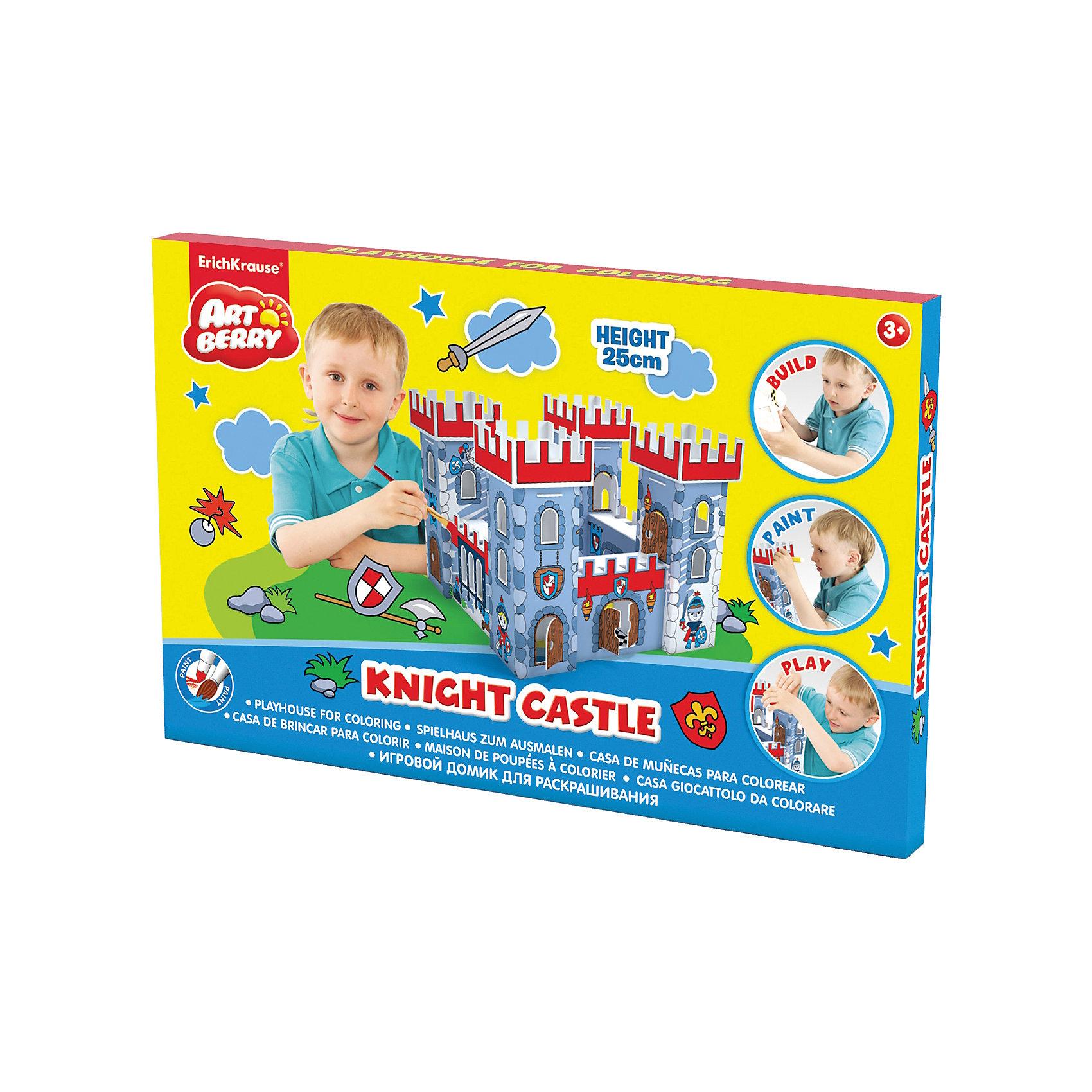 Игровой домик для раскрашивания Рыцарский замок, ArtberryИгровой домик для раскрашивания Artberry/Knight Castle/крепость/карт. короб.<br><br>Ширина мм: 325<br>Глубина мм: 250<br>Высота мм: 325<br>Вес г: 544<br>Возраст от месяцев: 60<br>Возраст до месяцев: 216<br>Пол: Унисекс<br>Возраст: Детский<br>SKU: 5409363