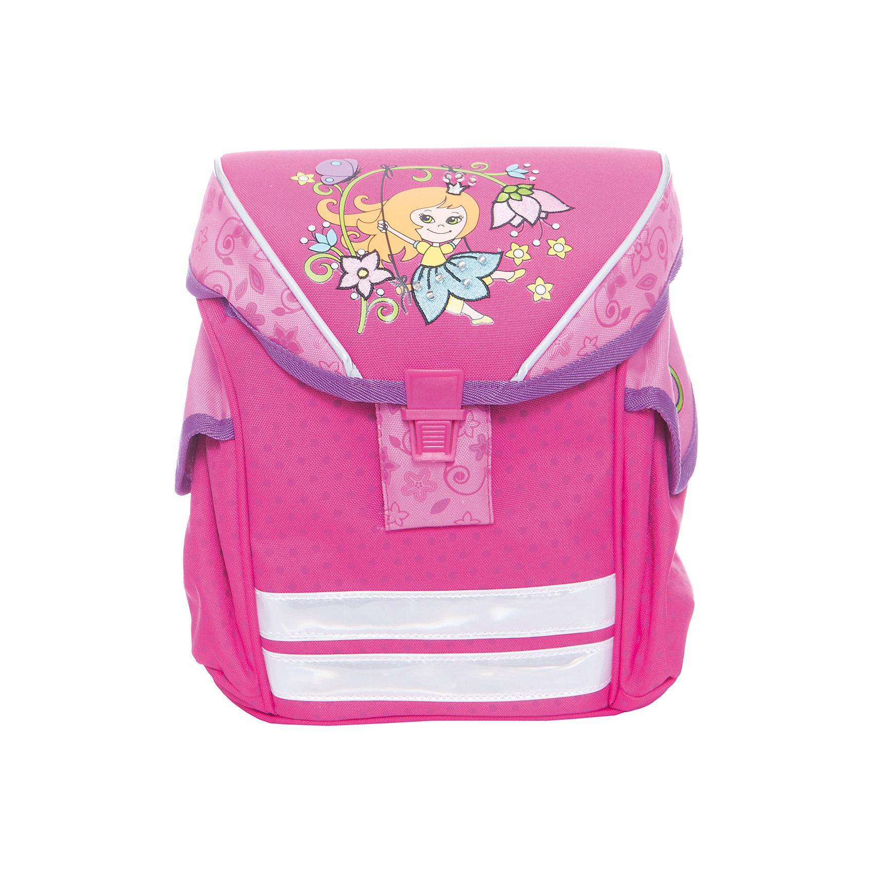 Дошкольный рюкзак Принцесса, модель Funny Ergo, ErichKrauseДетские рюкзаки<br>Характеристики товара:<br><br>• цвет: розовый<br>• материал: текстиль, полиэстер, пластик<br>• возраст: от 3 лет<br>• без наполнения<br>• жесткая вставка в спинке обеспечивает комфортную носку и правильное положение позвоночника;<br>• широкие лямки гарантируют удобную посадку и не натирают плечи;<br>• крышка откидывается полностью, облегчая доступ к содержимому;<br>• пластиковый надежный замок;<br>• лямки регулируются под рост ребенка или одетого в теплую одежду;<br>• просторное внутреннее отделение с небольшим кармашком для мелочей, ключей или телефона;<br>• по бокам 2 больших кармана для бутылочки с водой;<br>• светоотражающие полосы на передней части для видимости в темное время суток.<br>• вес: 330 г<br>• размер рюкзака: 25х19х11 см<br>• страна производитель: Китай<br><br>Модный и вместительный рюкзак – необходимая обновка для нового школьного сезона. Прочная и качественная модель отлично подойдет, чтобы поместить все учебники и тетради. У модели специальная вставка на спине, снижающая нагрузку на позвоночник.<br><br>Мини-ранец Artberry Принцесса модель Funny Ergo можно купить в нашем интернет-магазине.<br><br>Ширина мм: 230<br>Глубина мм: 100<br>Высота мм: 250<br>Вес г: 485<br>Возраст от месяцев: 36<br>Возраст до месяцев: 2147483647<br>Пол: Женский<br>Возраст: Детский<br>SKU: 5409370